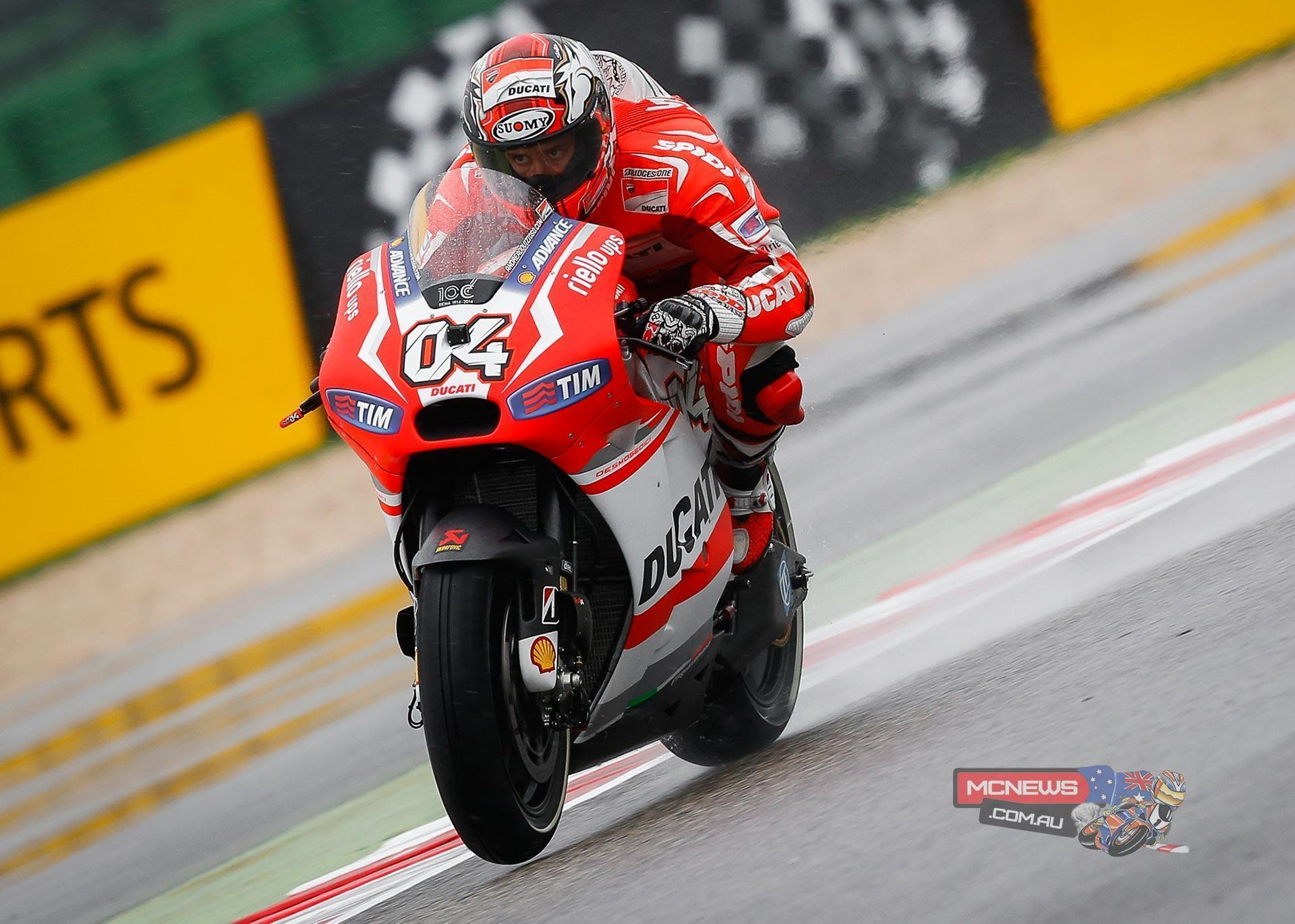 Drenched day one at Misano MotoGP