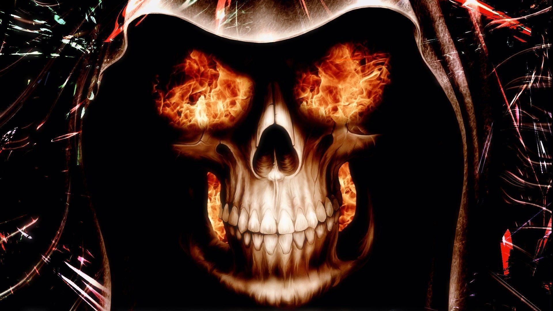 Burning Skull Eyes HD Wallpaper