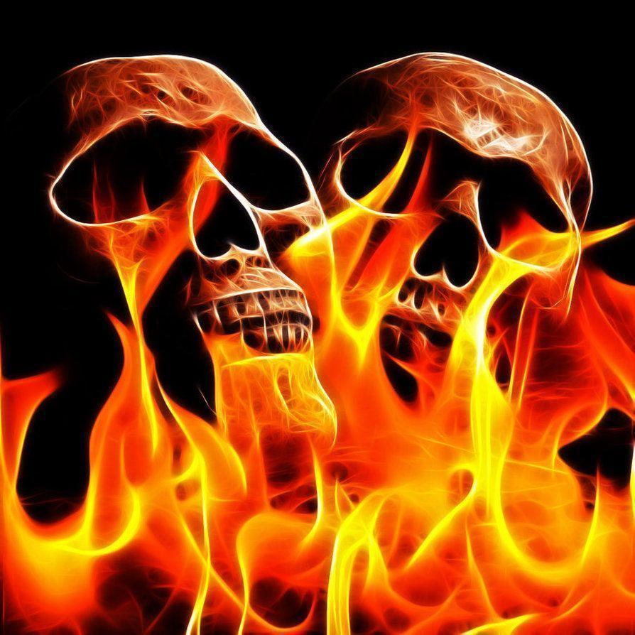 Burning Skull Wallpapers