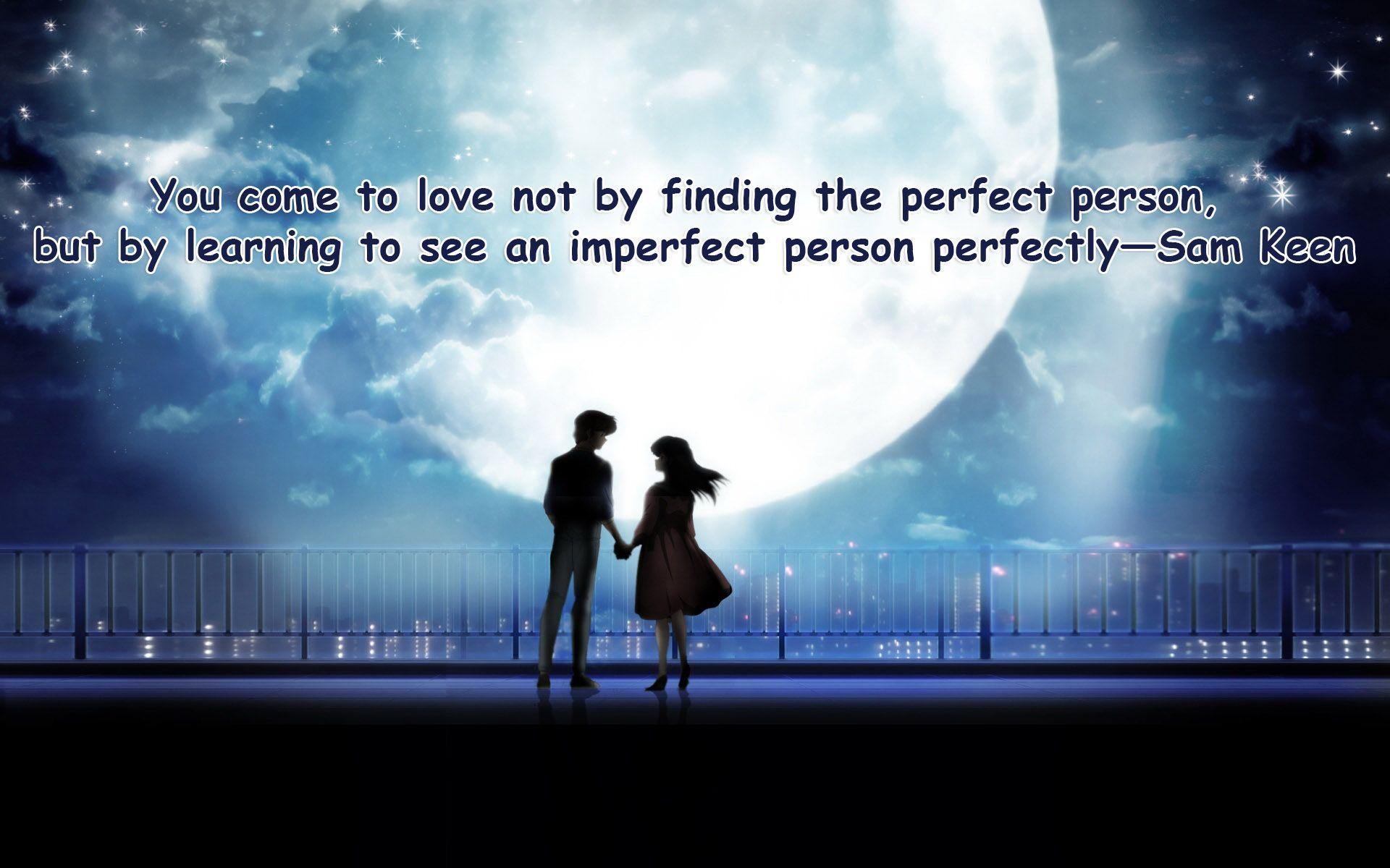 Two Lovers Wallpaper With Quotes