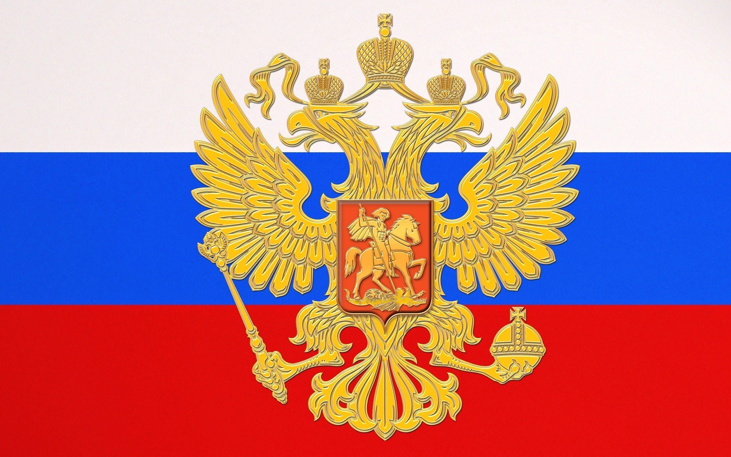 Flag and National Emblem of Russia wallpapers and images ...