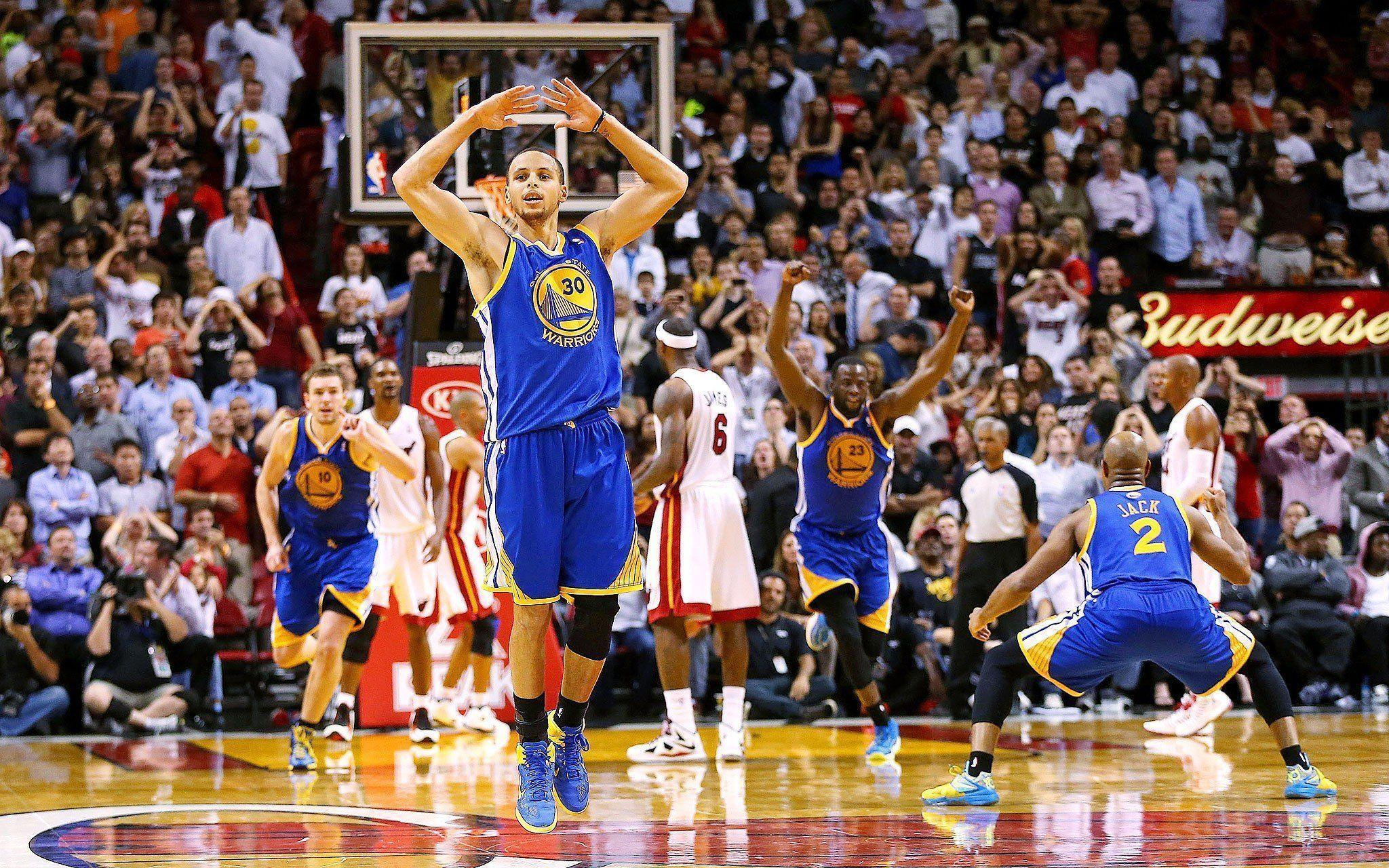 Stephen Curry NBA Basketball Warriors Golden State Miami Heat