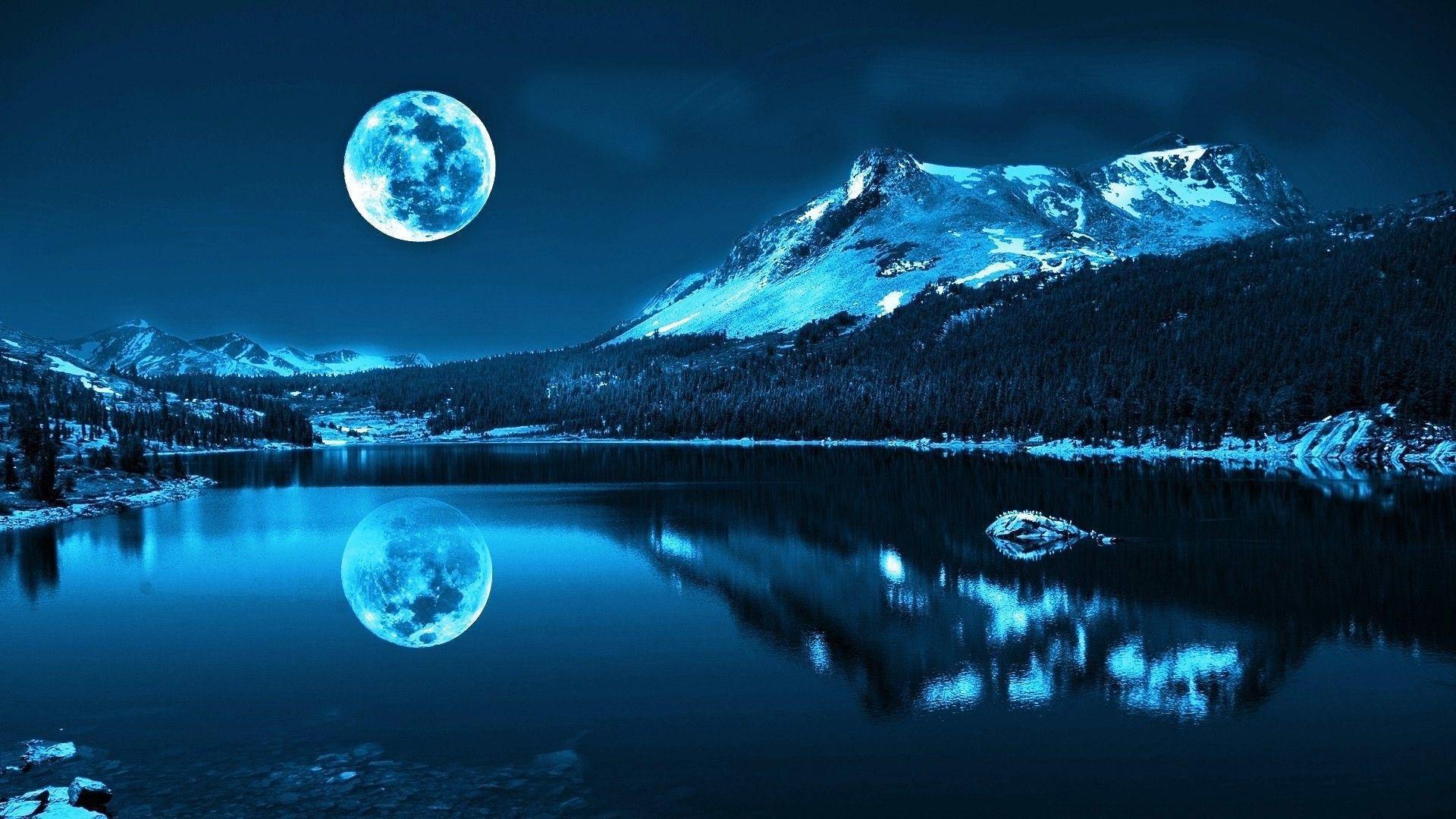 Moon Full Light Wallpapers Wallpaper Cave