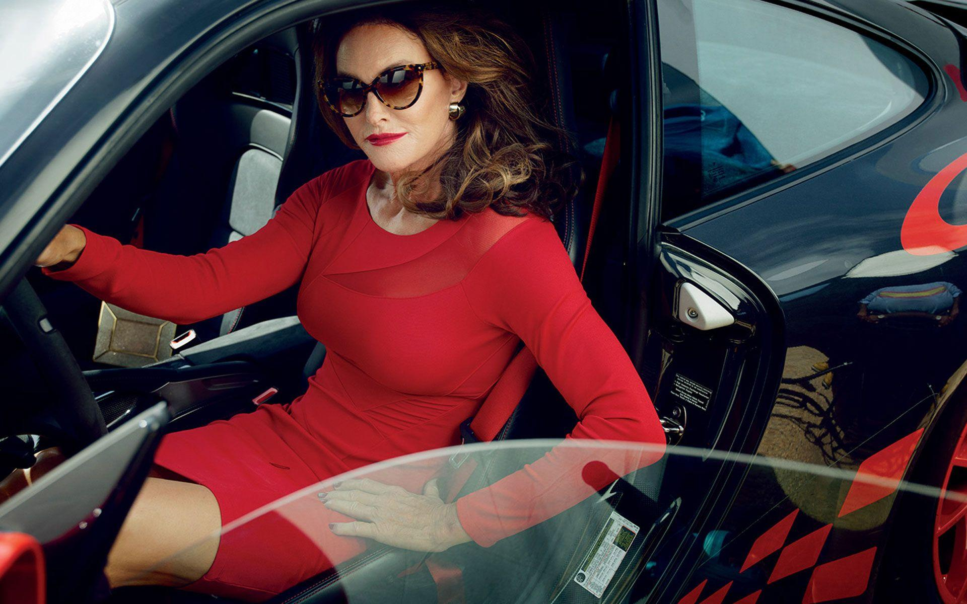 Caitlyn Jenner in a Supercar, Wearing a Sexy Red Dress 1920x1200 ...