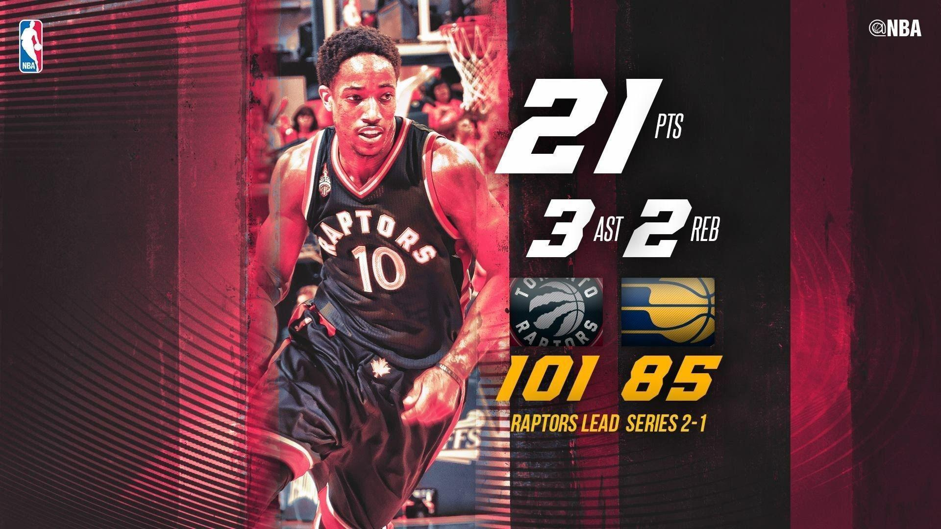DeMar DeRozan and Kyle Lowry Lead Toronto Past Indiana