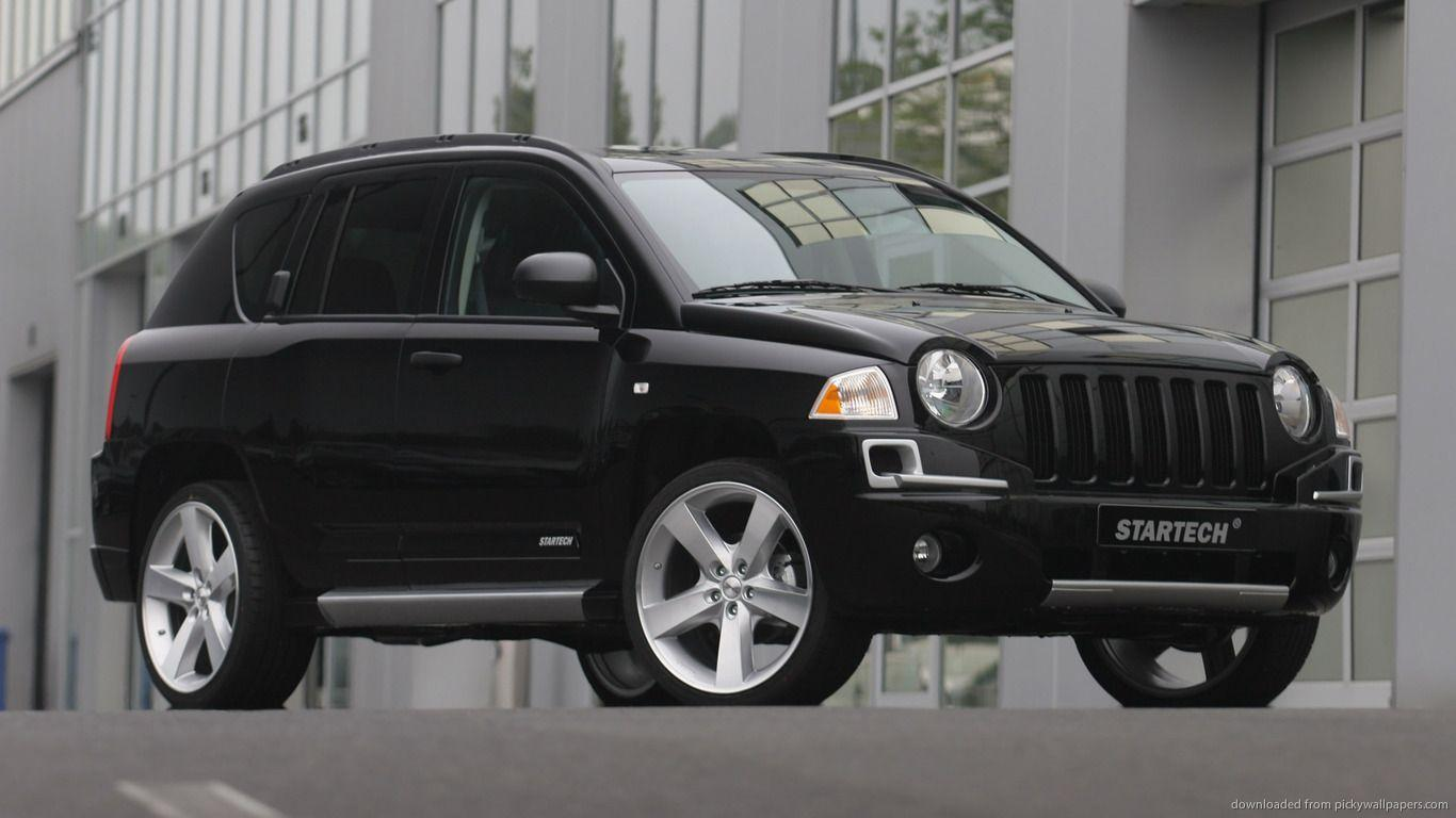 Download 1366x768 Black Jeep Compass Wallpapers