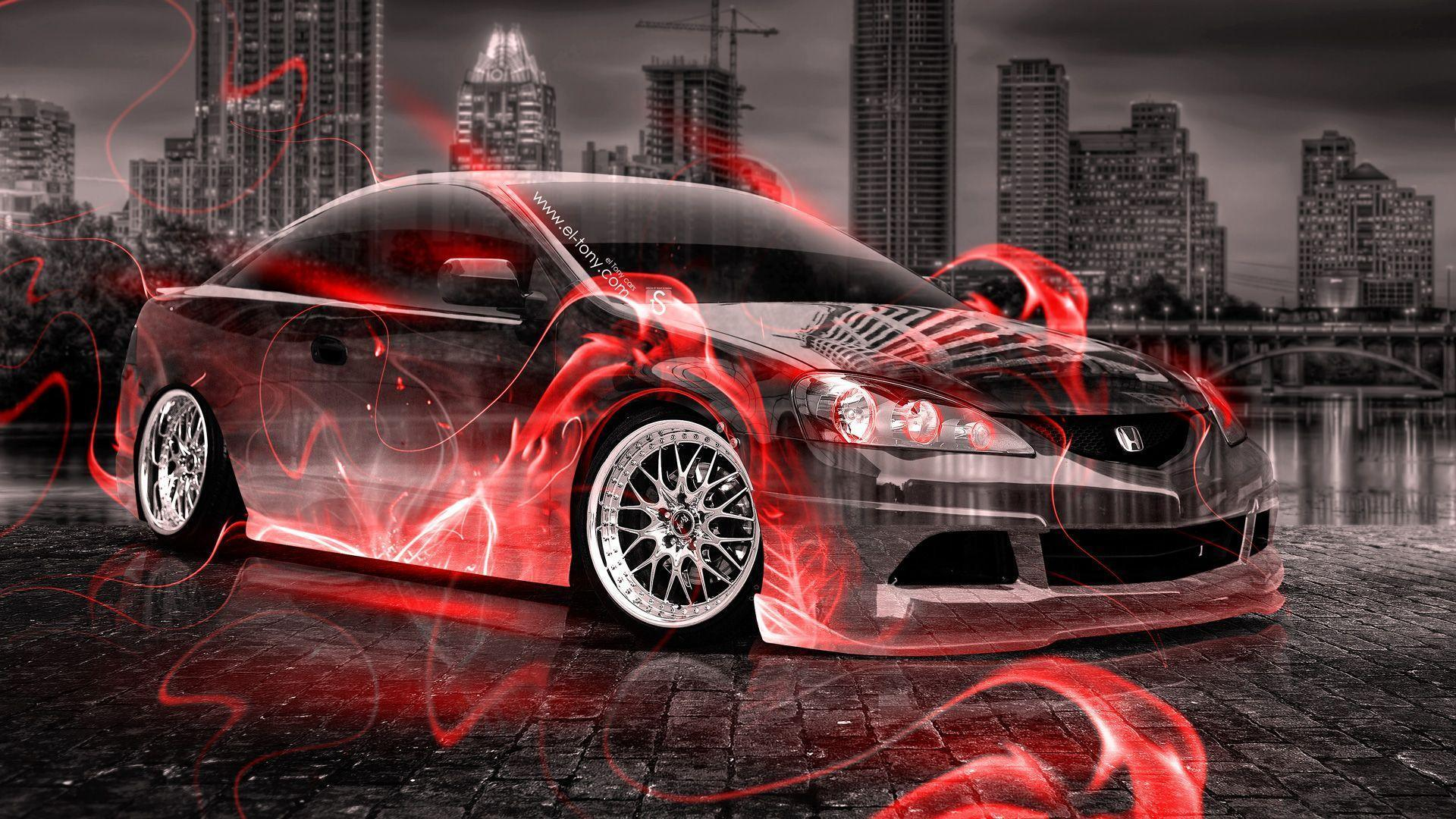 Honda Integra JDM Crystal Fire City Car 2014 | El Tony