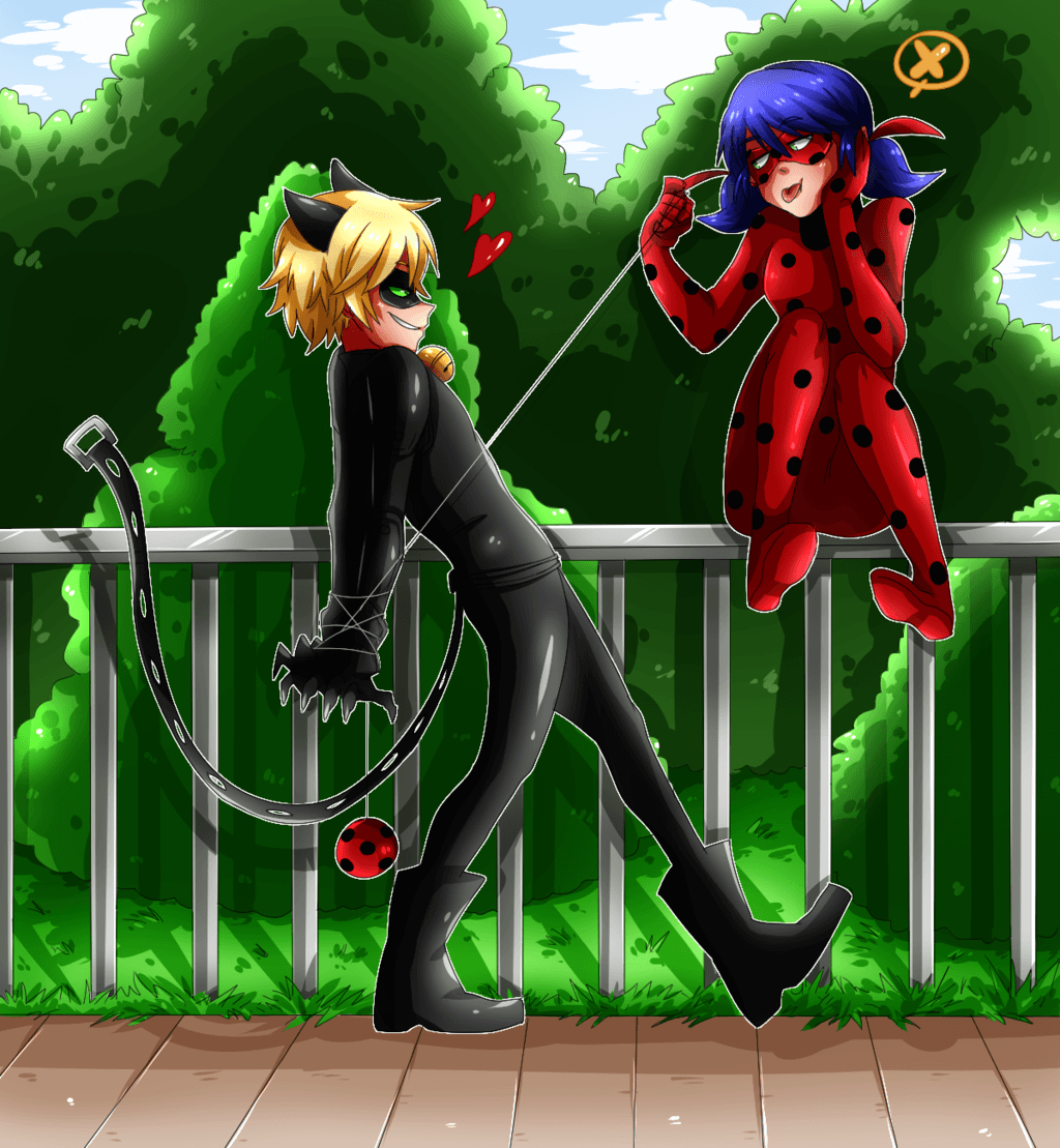 Ladybug and Cat Noir by cjwolf207.deviantart on @DeviantArt