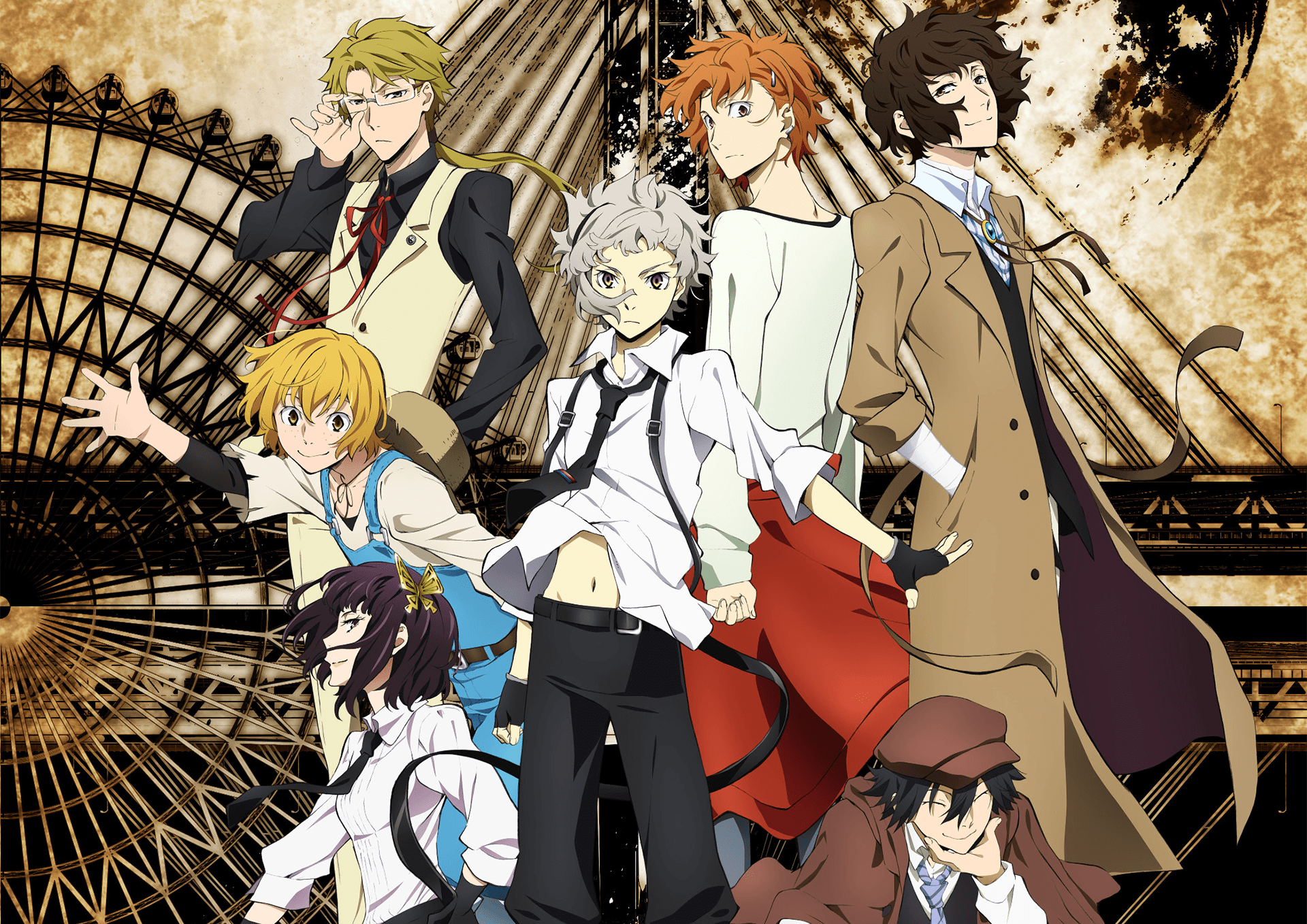 Dual Monitor Bungou Stray Dogs Bsd Wallpapers Hd Backgrounds