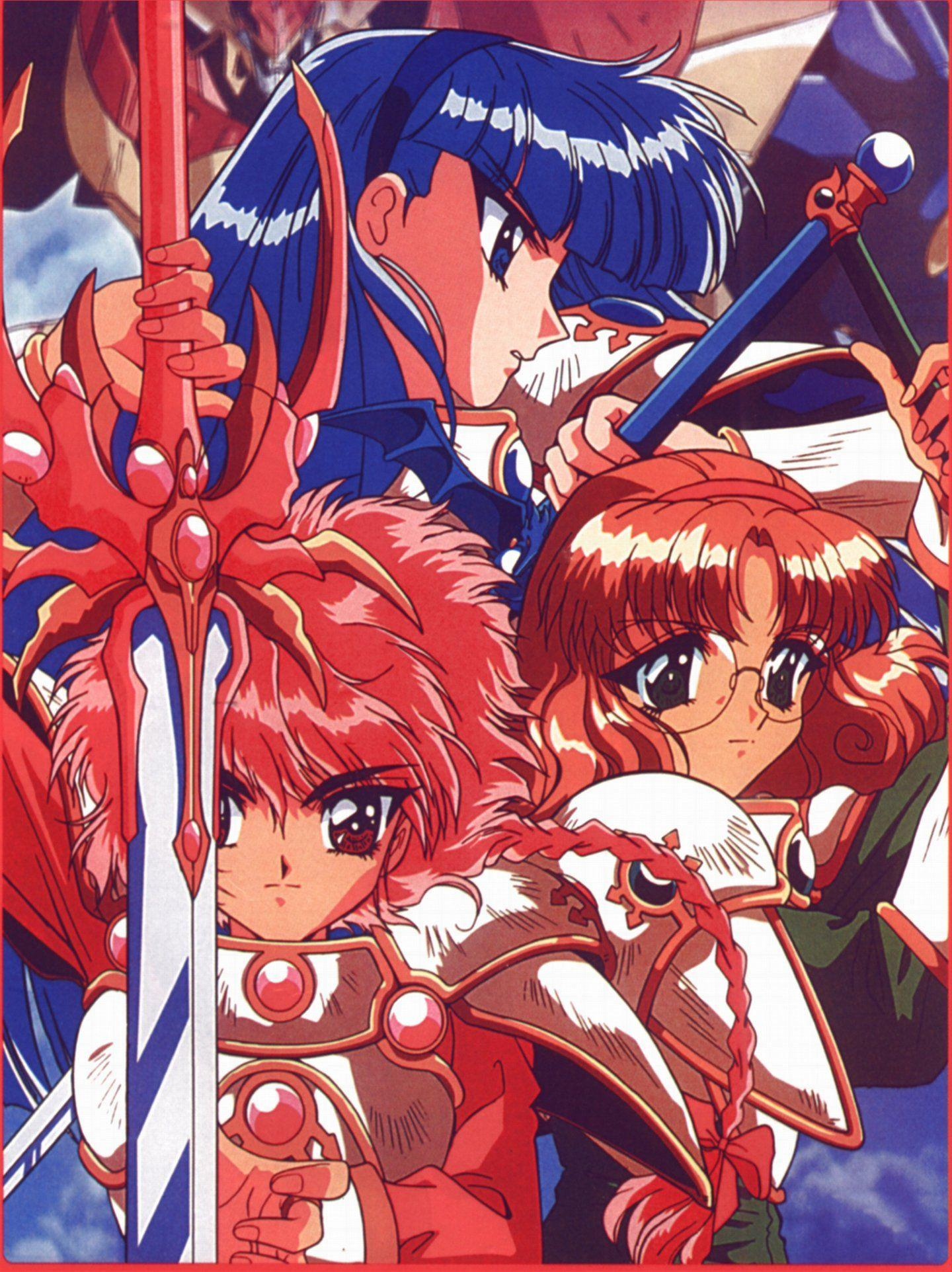Anime girl beautiful dress Magic Knight Rayearth Series Characters