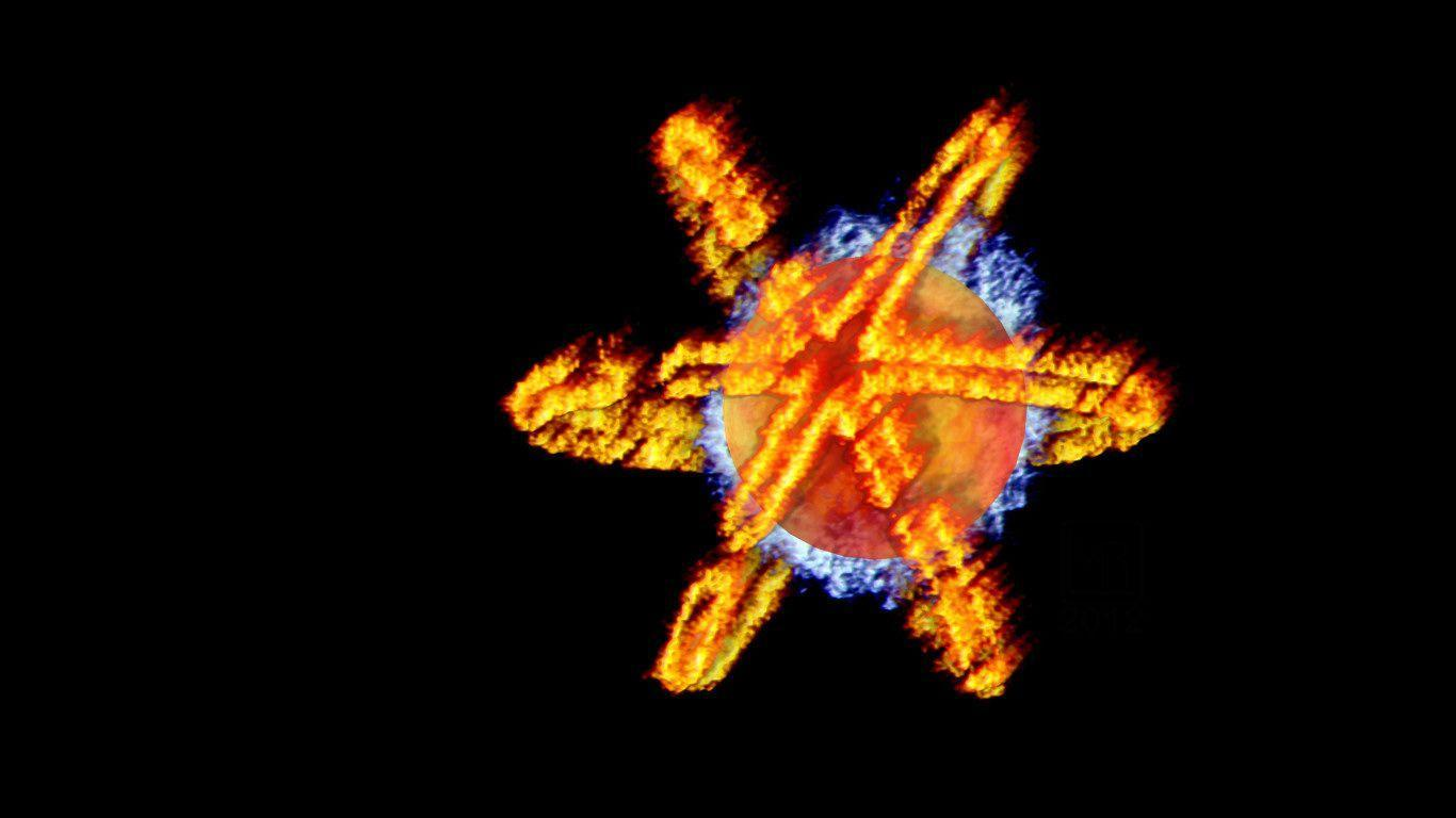 Firestorm Fiery 3D Symbol WP by MorganRLewis