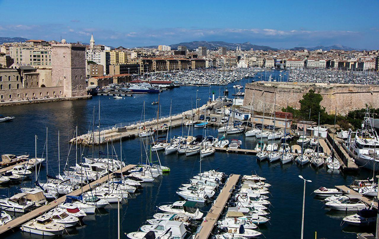 Wallpapers Marseille France Berth Rivers Sailing Cities Building