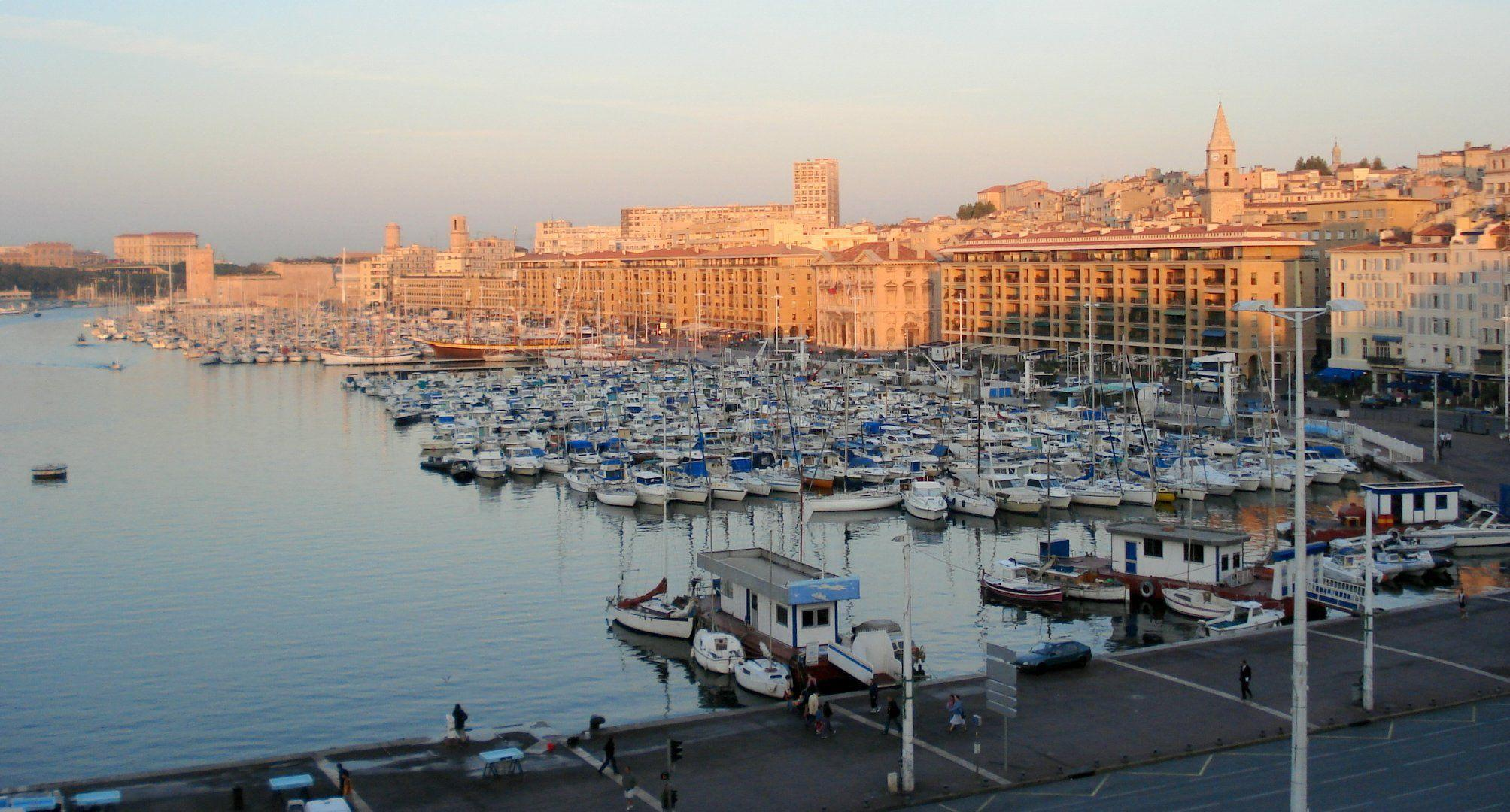 Sunset in the port city of Marseille, France wallpapers and image