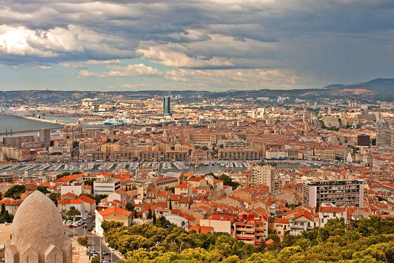 Pictures Marseille France From above Cities Houses