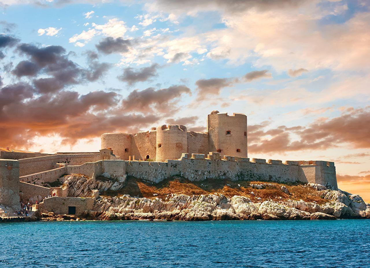Wallpapers Marseille France Fortification Chateau d'If Castles Sky