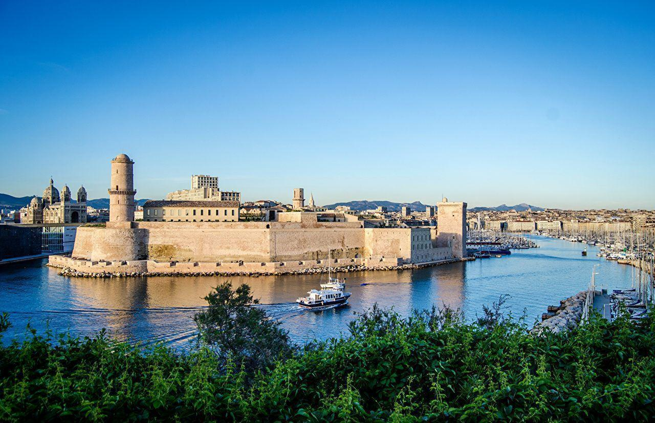 Picture Marseille France Fortification Fort Saint