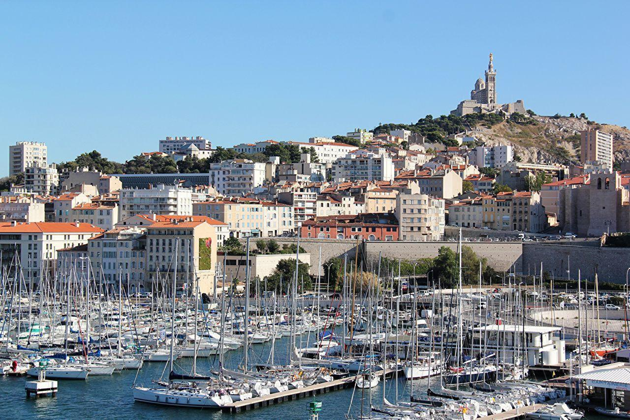 Picture Marseille France Sailing Marinas Cities Houses