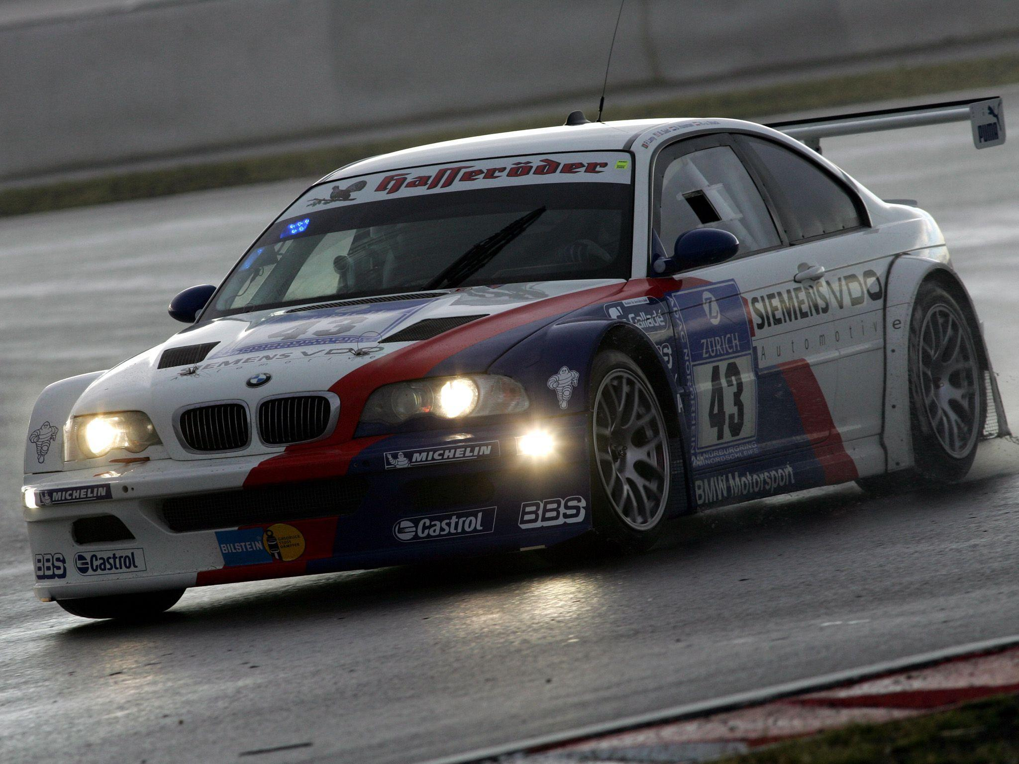 2001 BMW M3 GTR E46 race racing m
