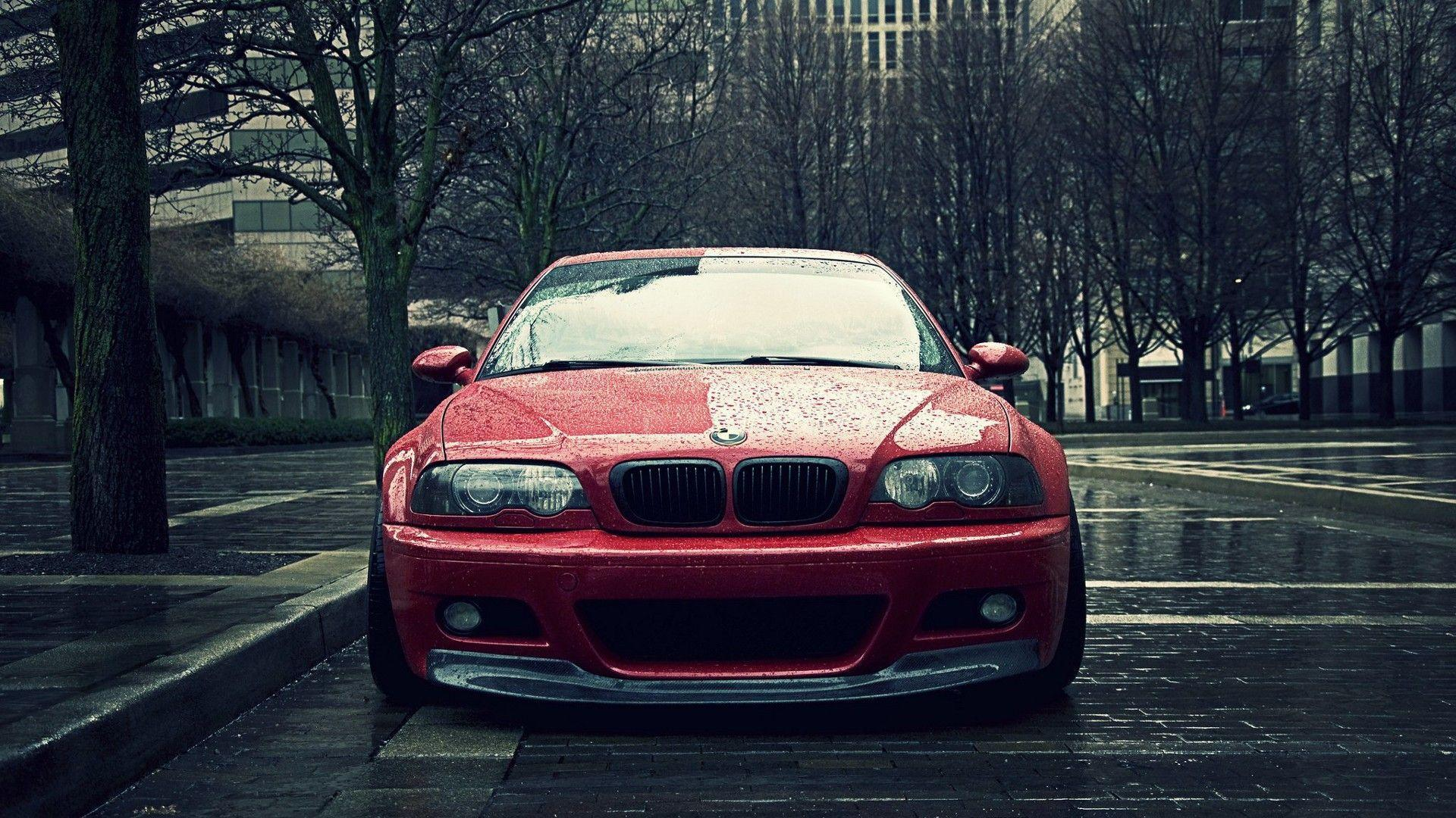 BMW trees rain cars tuning tuned stance Bmw m3 e46