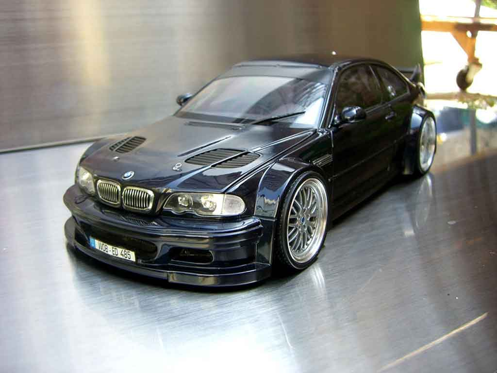 Bmw M3 E46 GTR wheels bbs Minichamps diecast model car 1/18