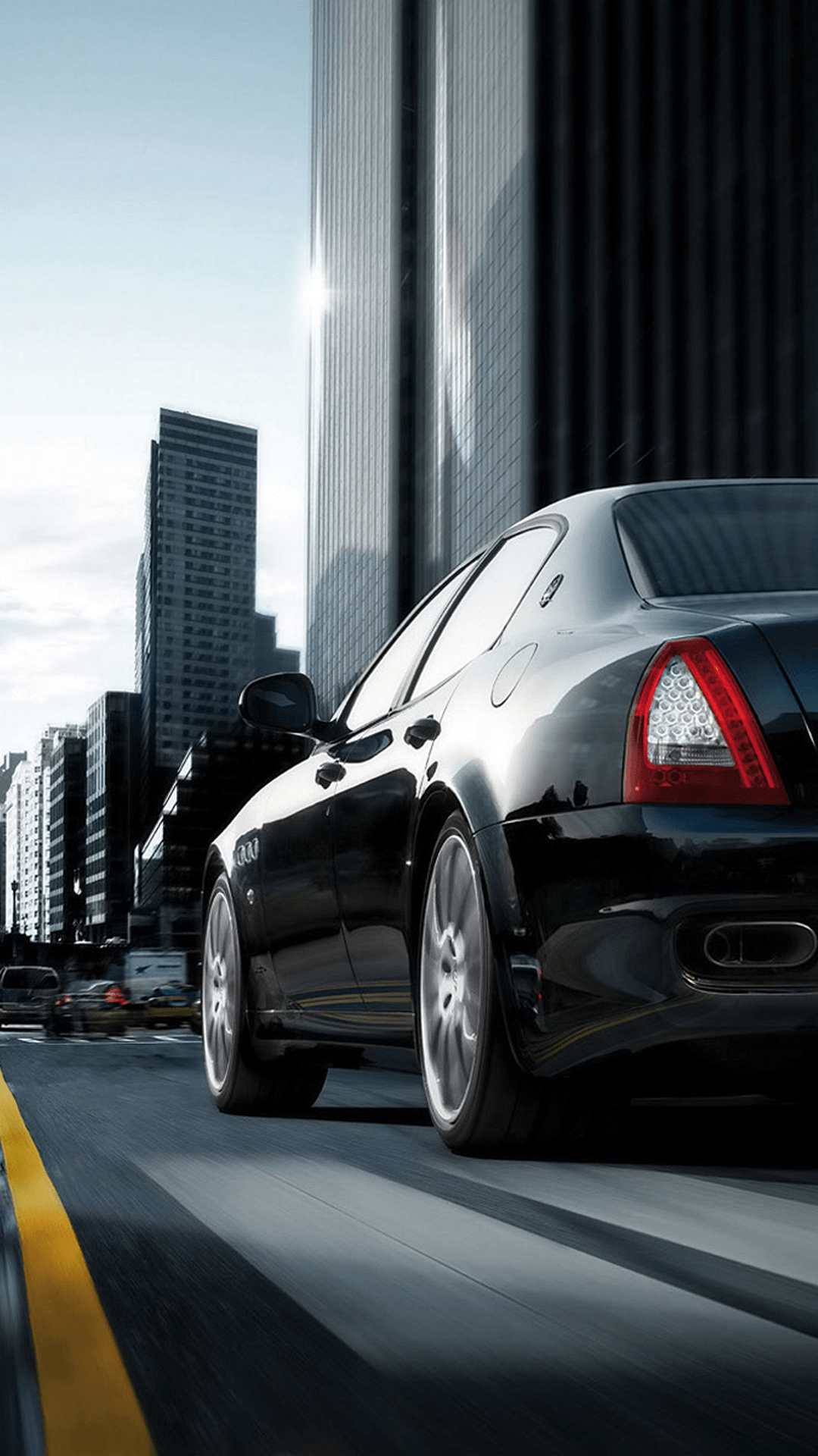 Maserati Quattroporte Black City iPhone 6 Plus HD Wallpaper / iPod ...