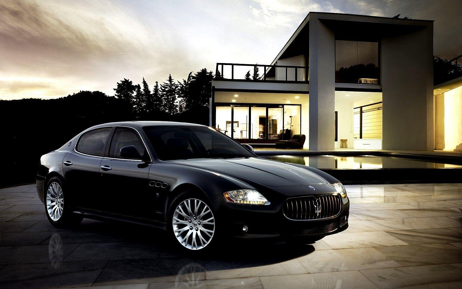 Good-Looking Maserati Quattroporte Black Quattroporte Black HD ...