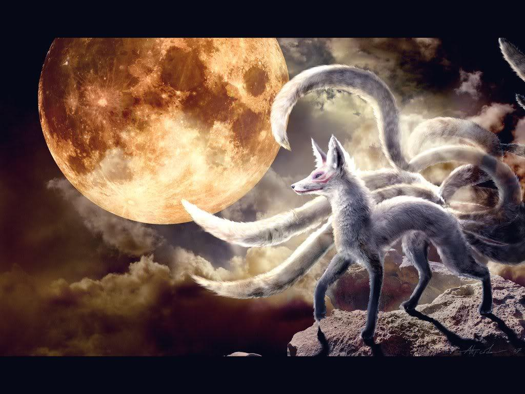 Nine Tailed Fox Wallpapers Wallpaper Cave
