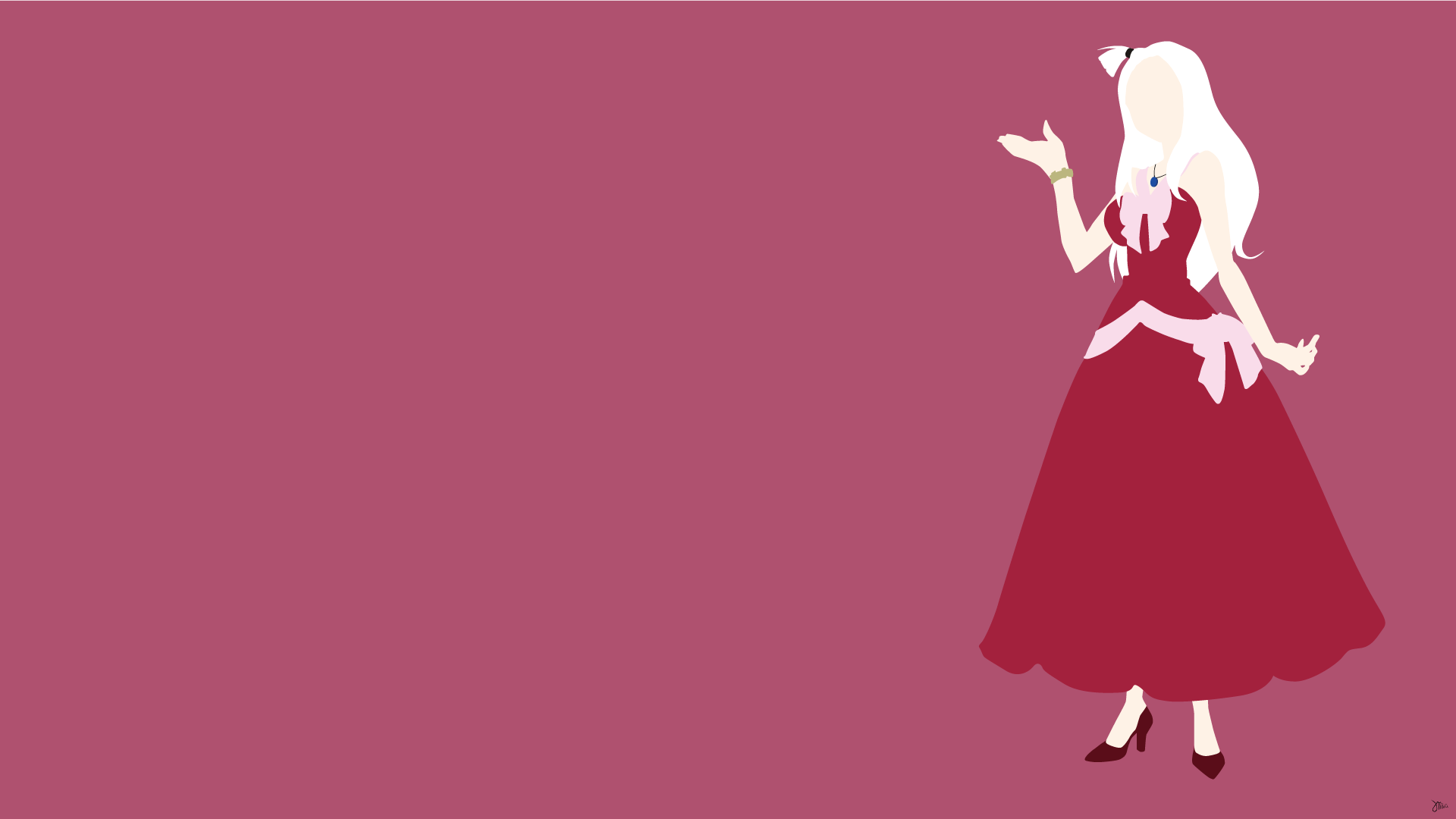 Mirajane Strauss Fairy Tail Minimalistic Wallpapers by