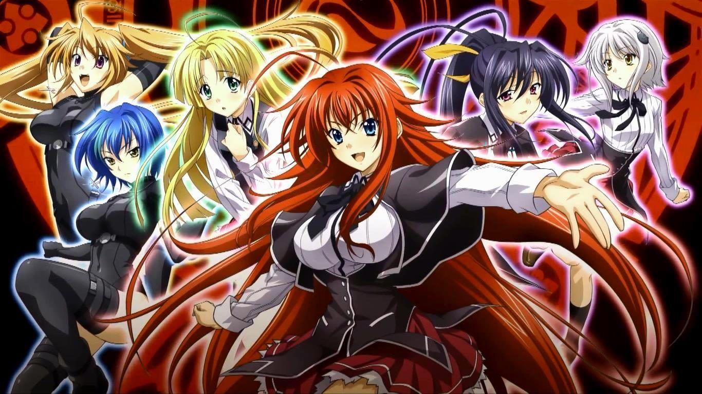Wallpaper : illustration, anime girls, artwork, Highschool