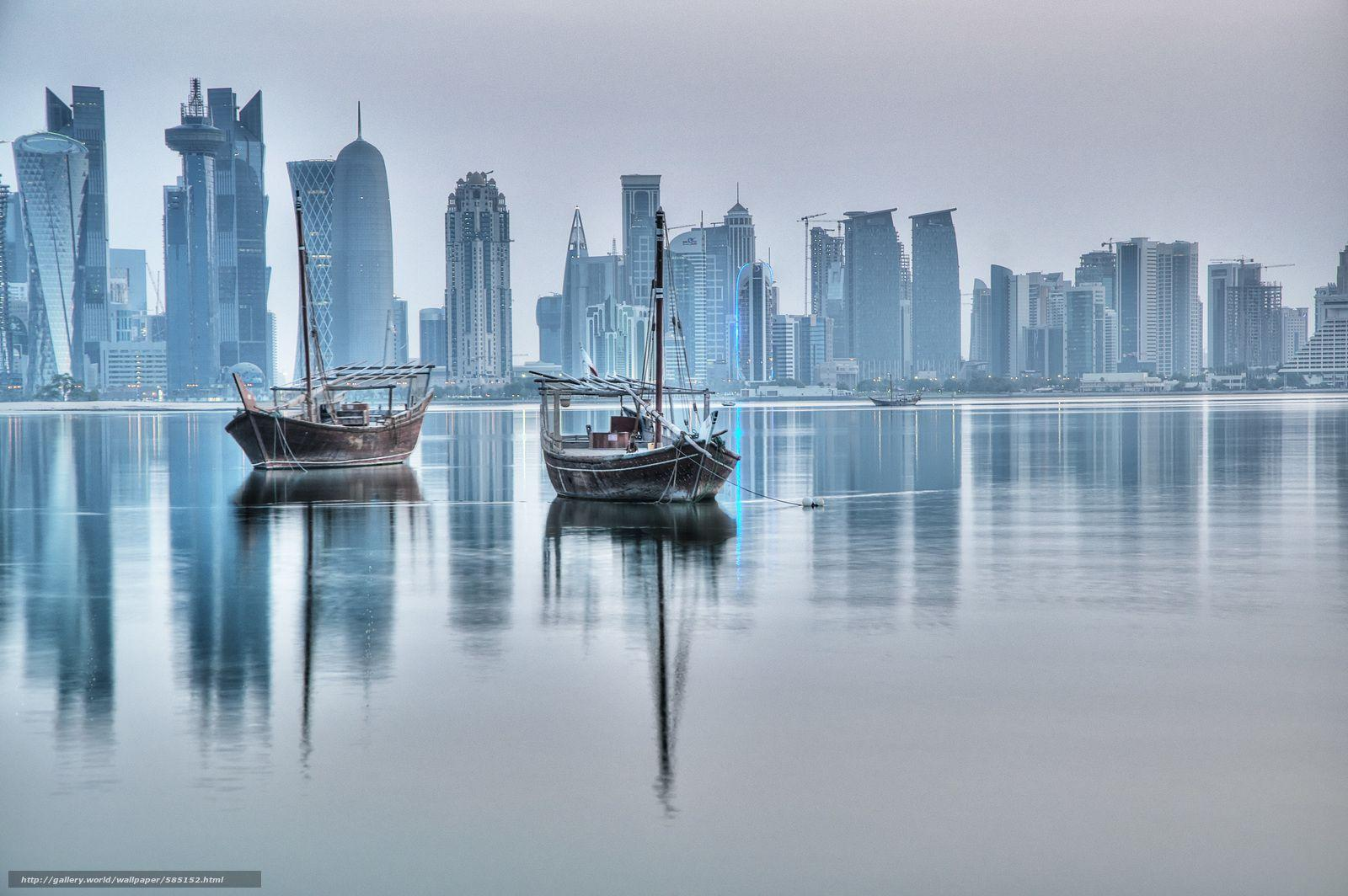 Download wallpapers Doha, Qatar, city free desktop wallpapers in the
