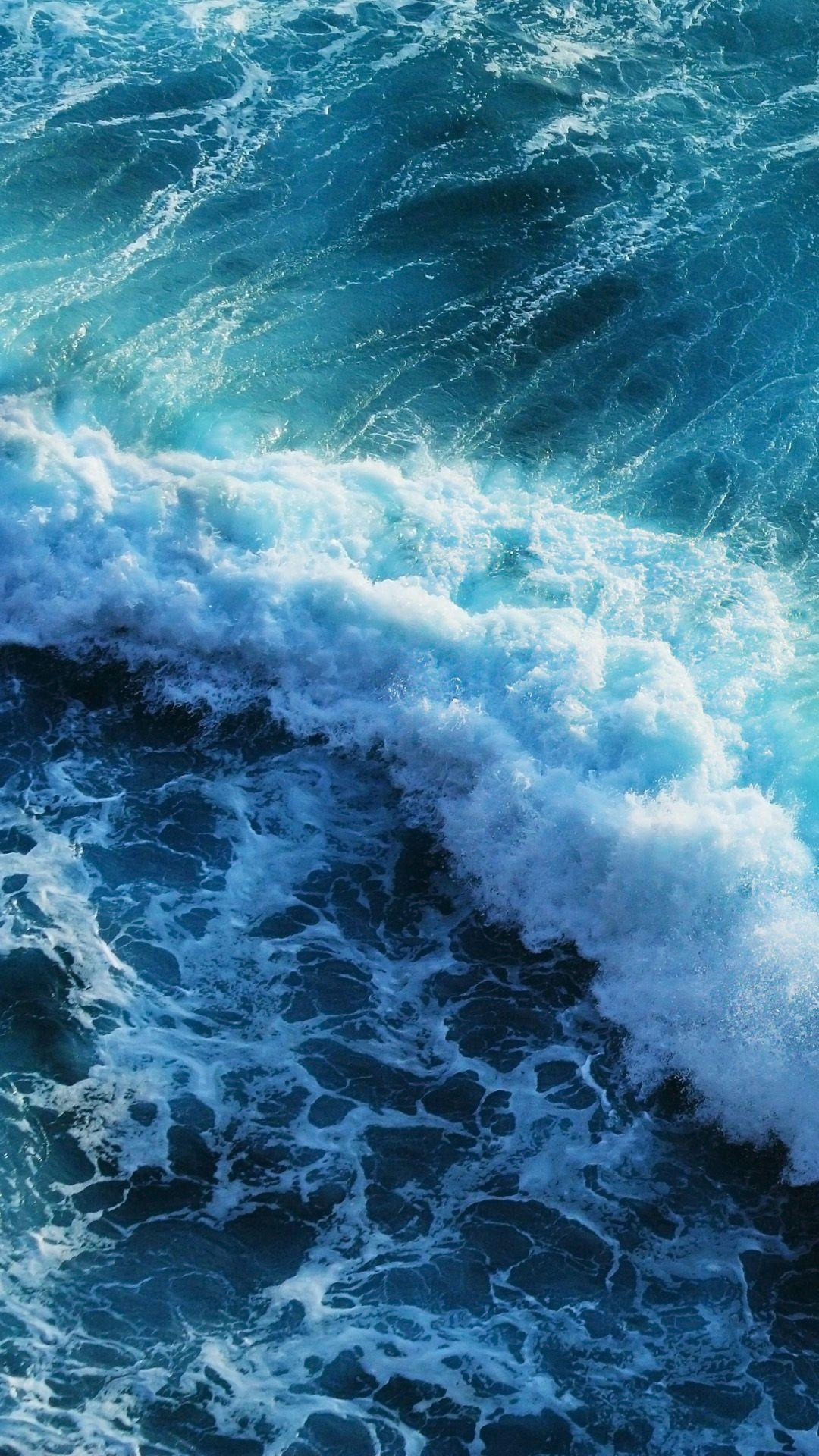 Beautiful blue waves iphone 6 plus wallpapers