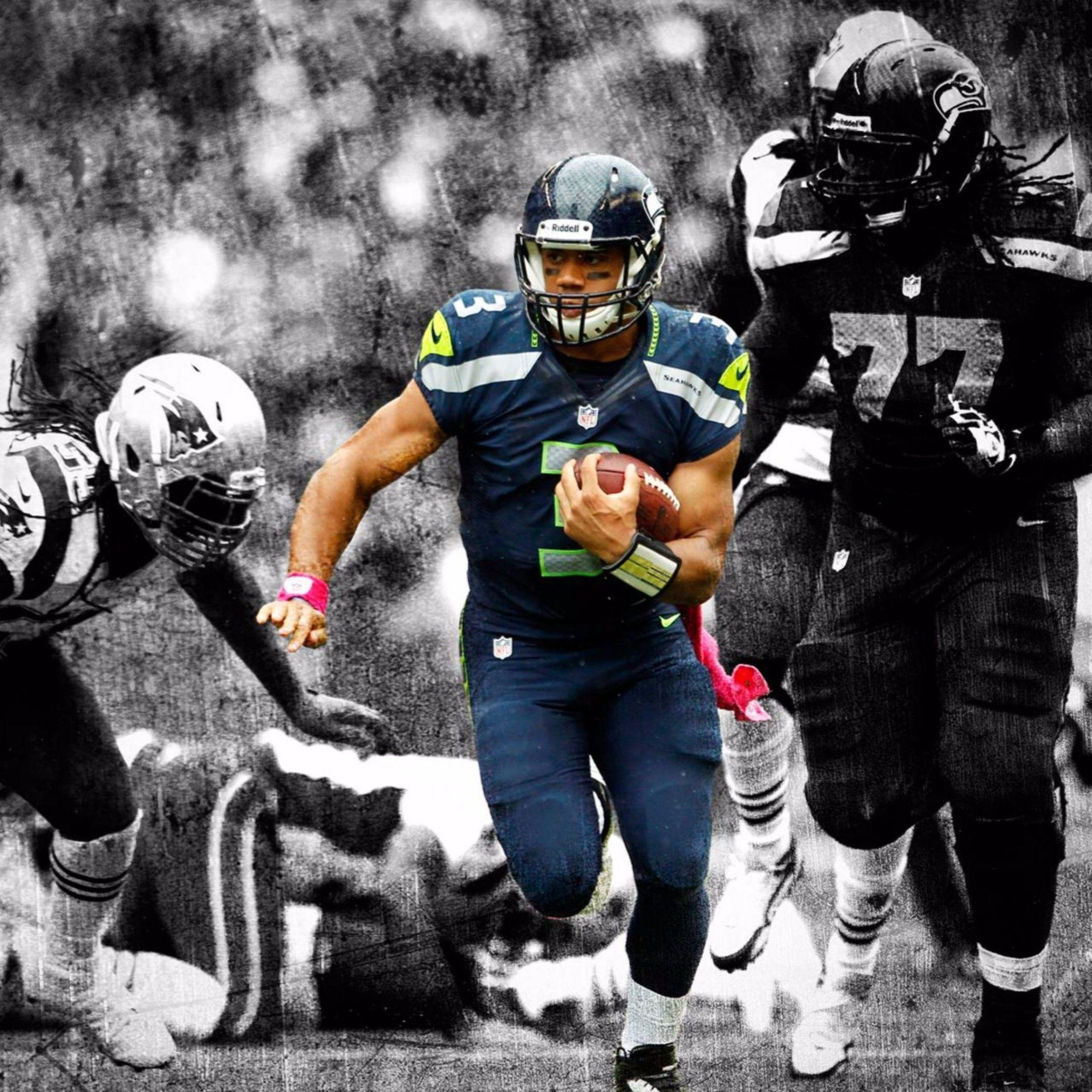 Black and White 4K Russell Wilson Wallpapers