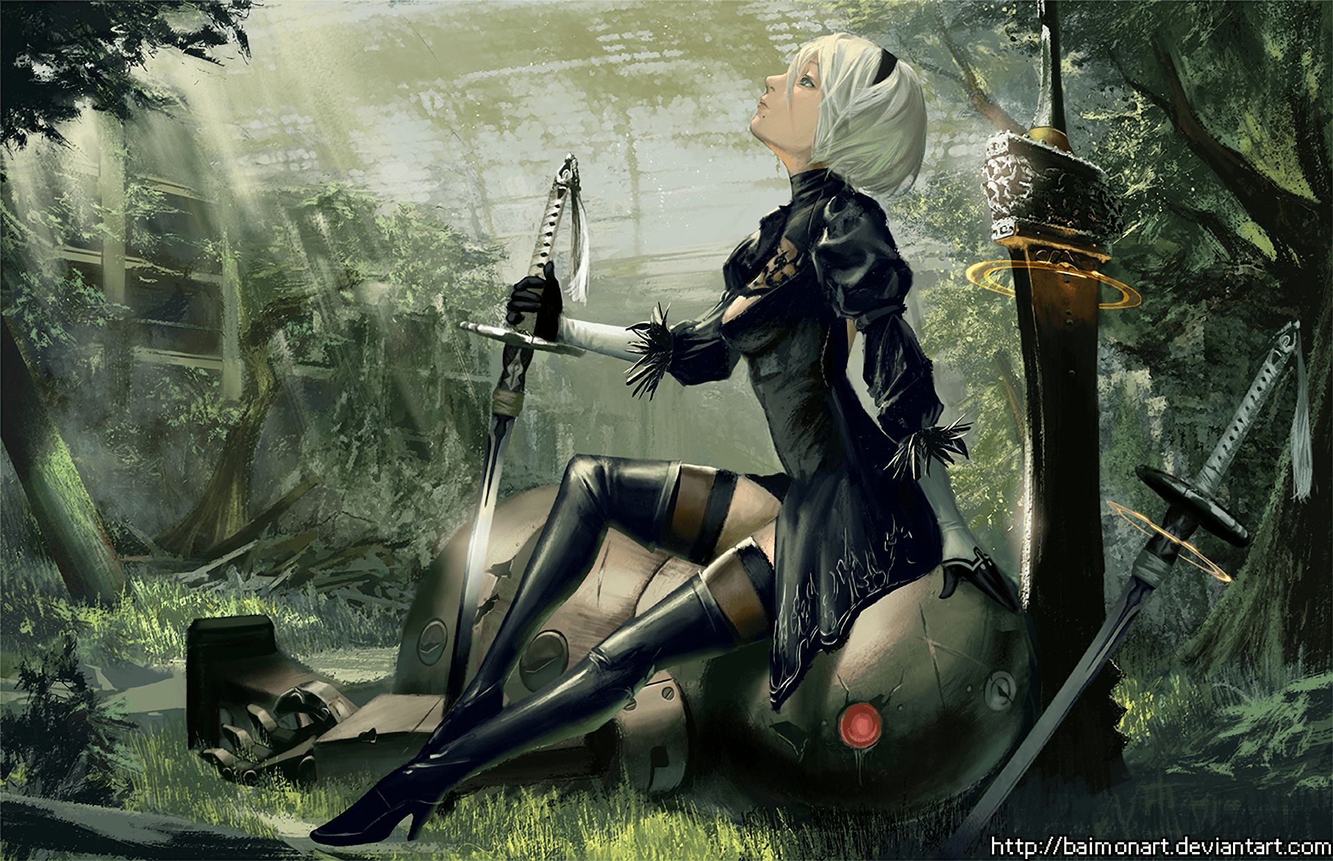Nier Automata Fantasy Game Art Full Hd Wallpaper: Nier: Automata Wallpapers