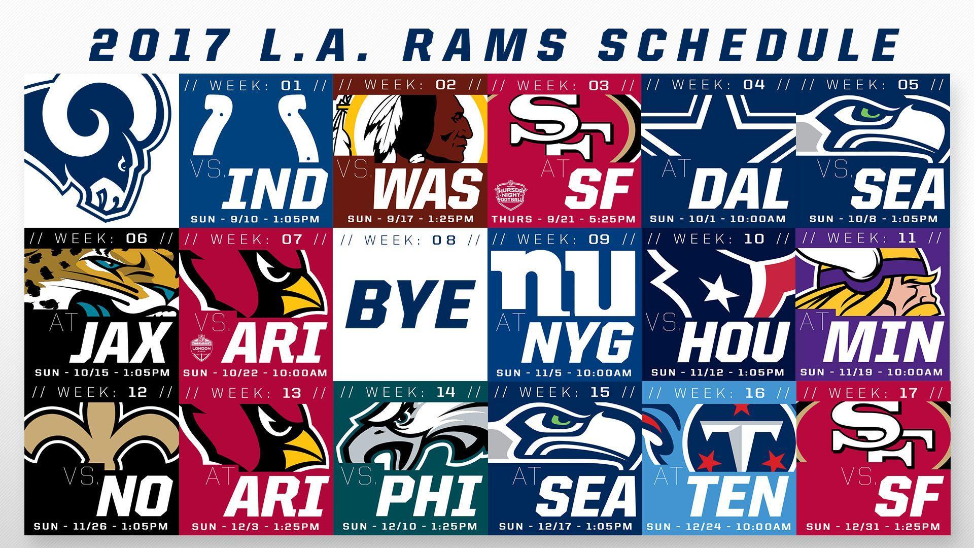 2017 Rams Schedule Wallpapers