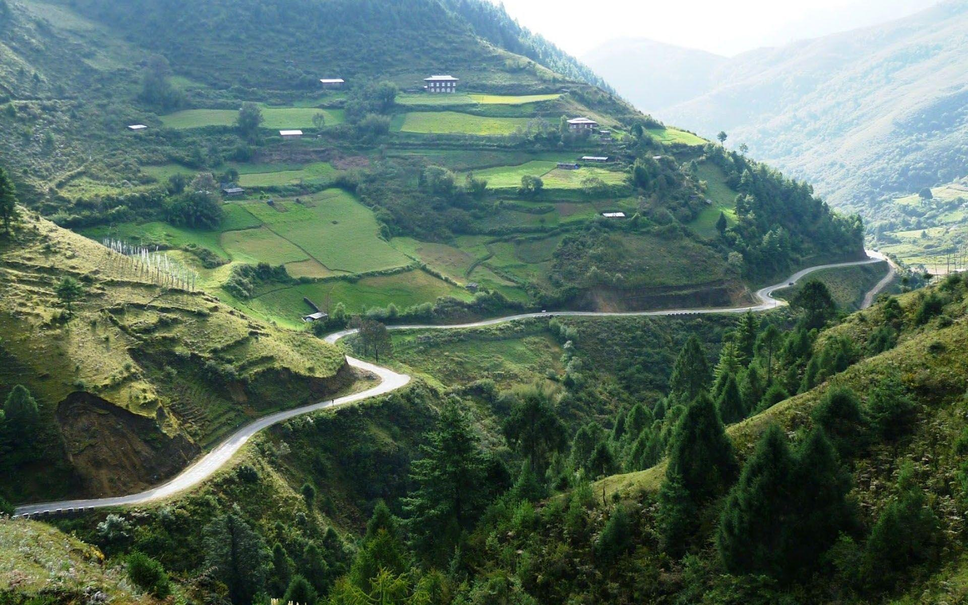 Natural Scenery Bhutan | HD Wallpapers | Pinterest | Scenery and ...