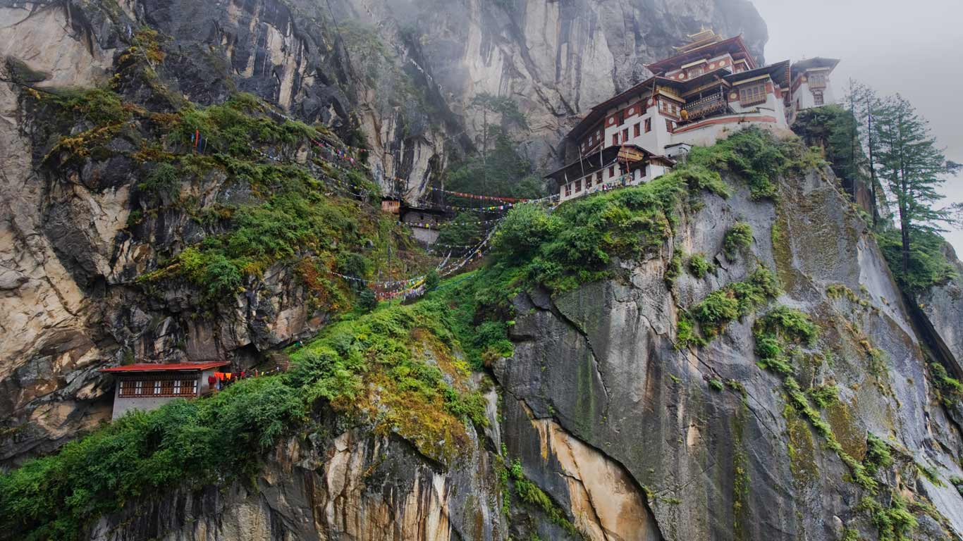 Paro Taktsang (Tiger's Nest Monastery) above Paro Valley, Bhutan ...