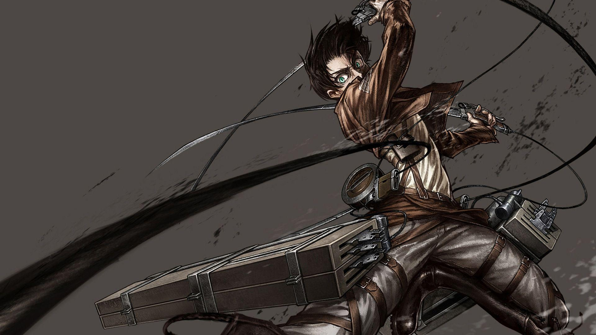 Eren Yeager 3DMG Attack on Titan Wallpapers