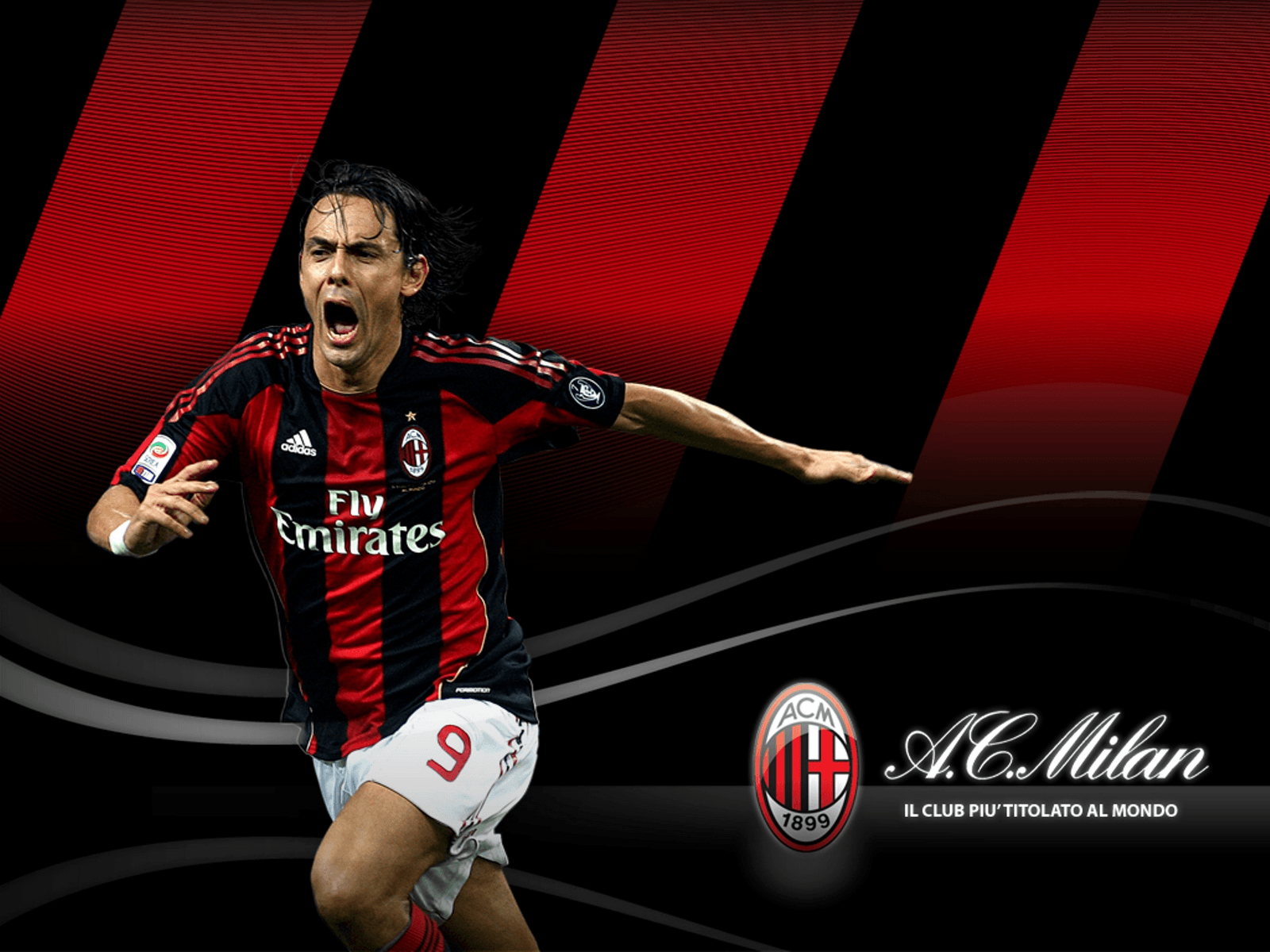 Filippo Inzaghi Ac Milan Background: download this wallpaper ...