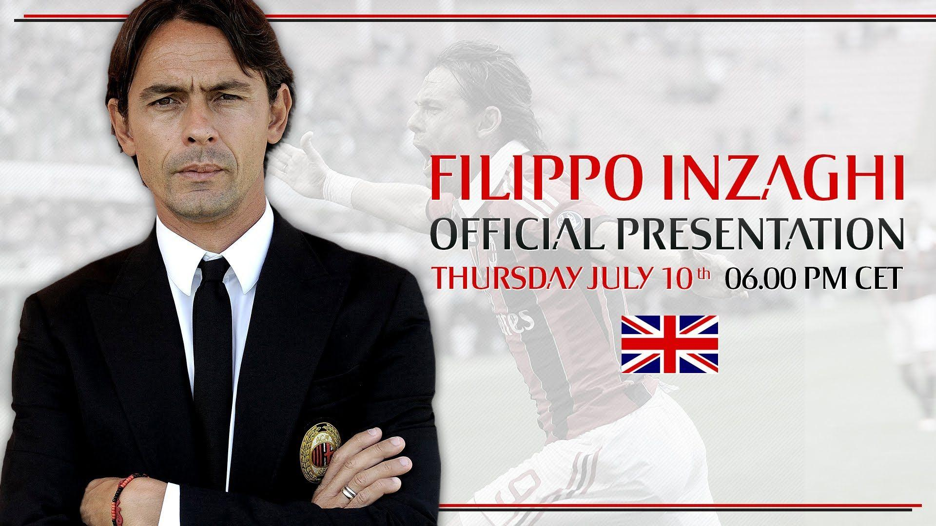 Filippo Inzaghi, Official Presentation | ENG | AC Milan Official ...