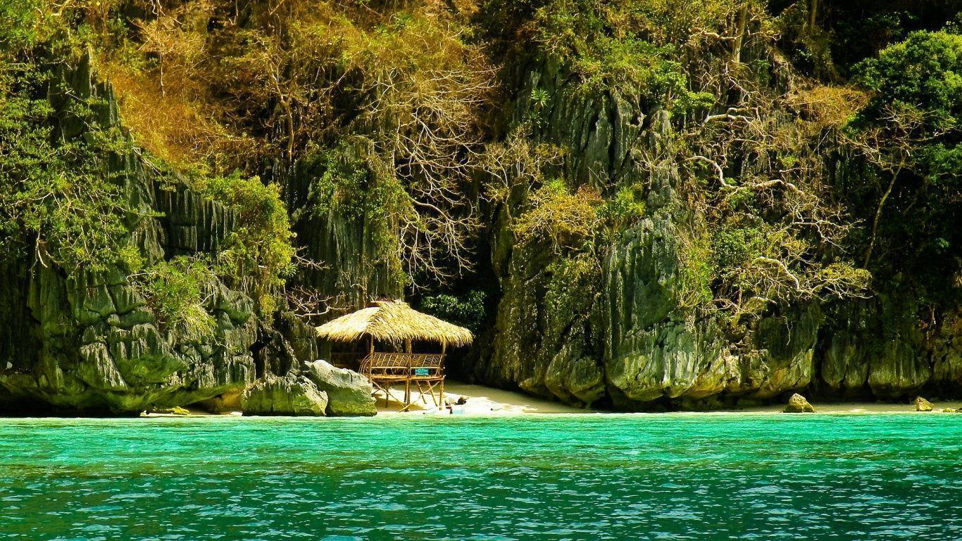 1366x768 Palawan Philippines Wallpaper