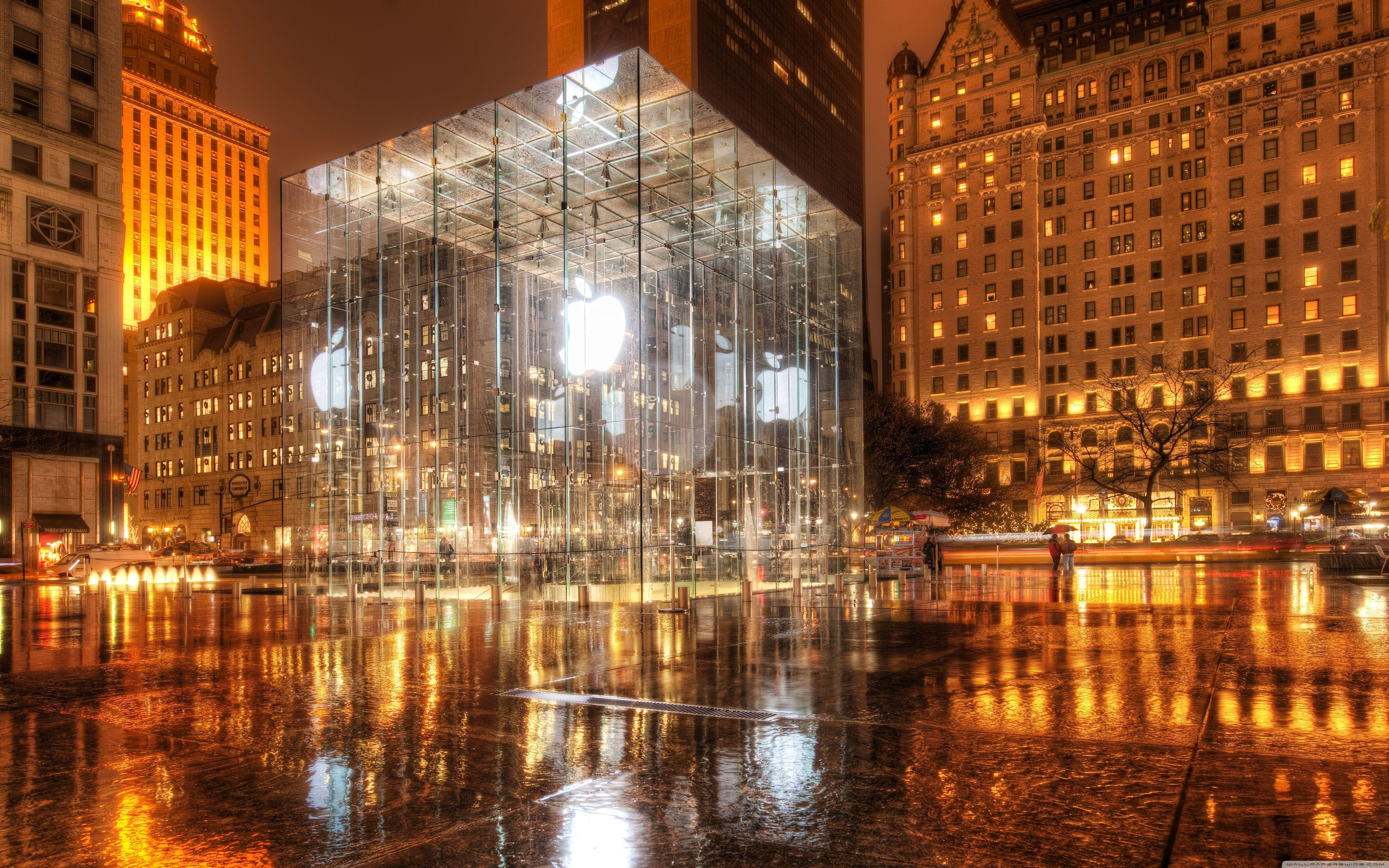 Apple Store, New York HD desktop wallpaper : Fullscreen : Dual Monitor
