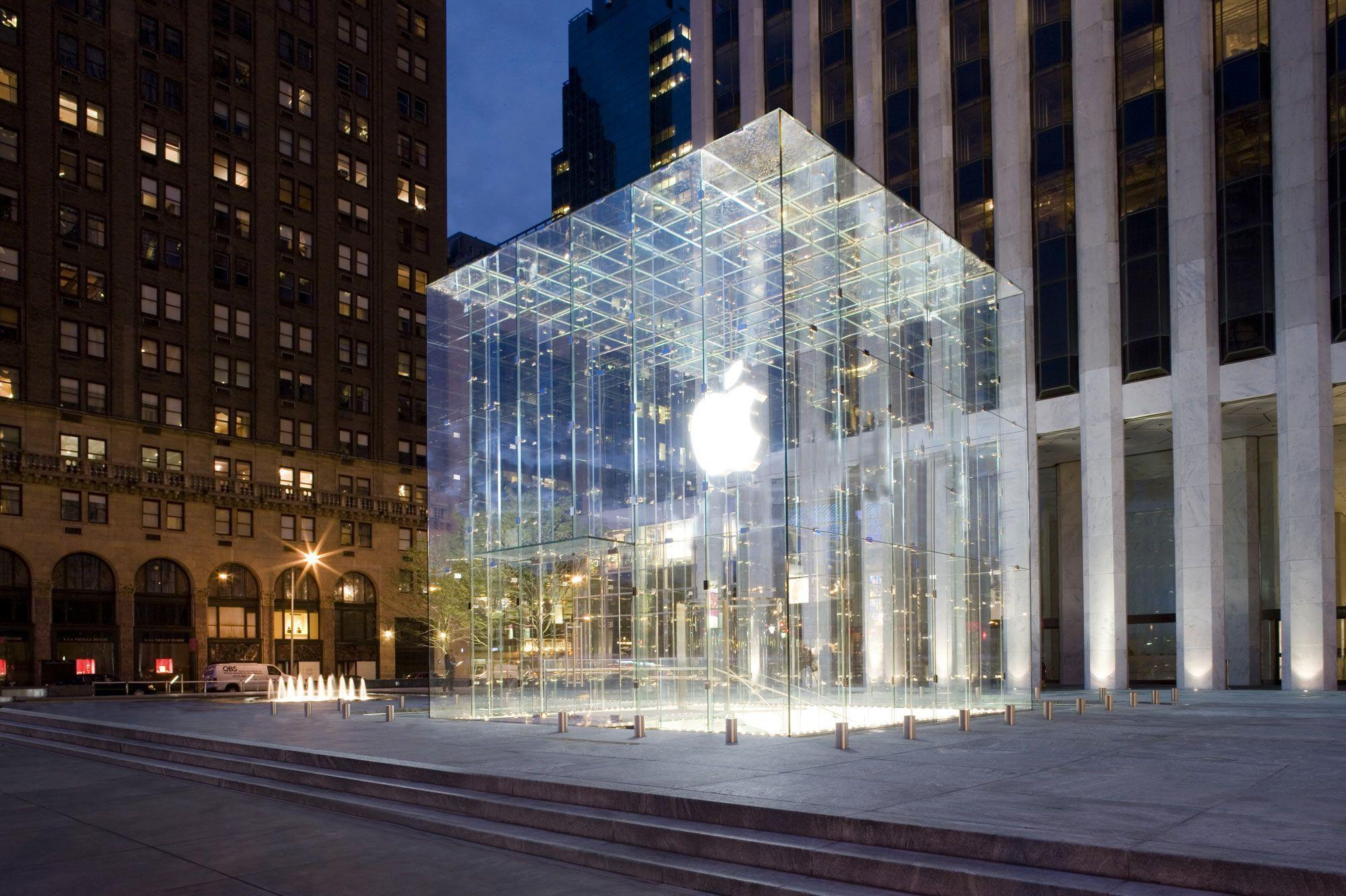 Apple Store, New York City widescreen wallpaper | Wide-Wallpapers.NET