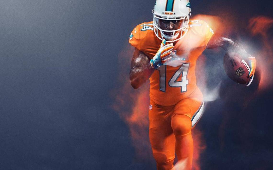 Miami Dolphins' Color Rush jerseys are highlighter orange | Miami ...