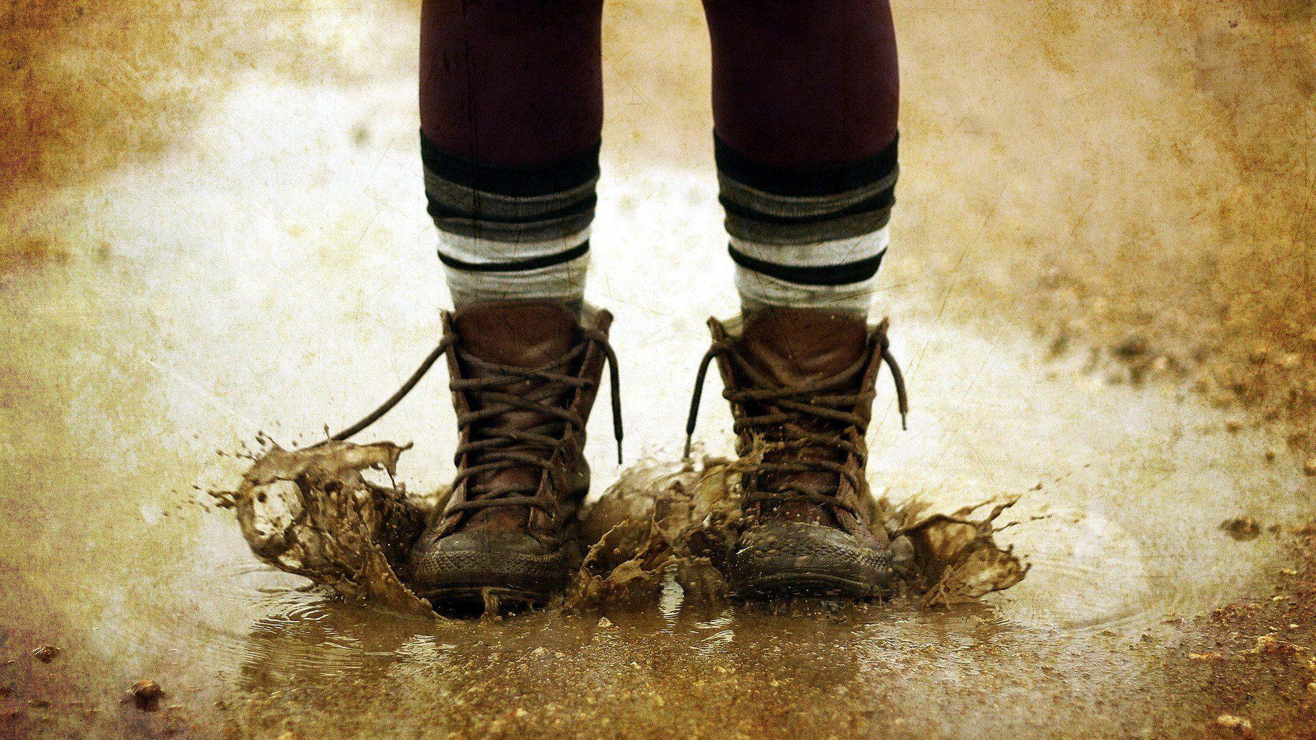 Boots autumn mud wallpapers