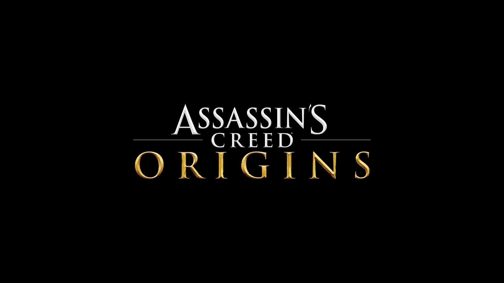 Assassins Creed Origins Game Logo Wallpapers