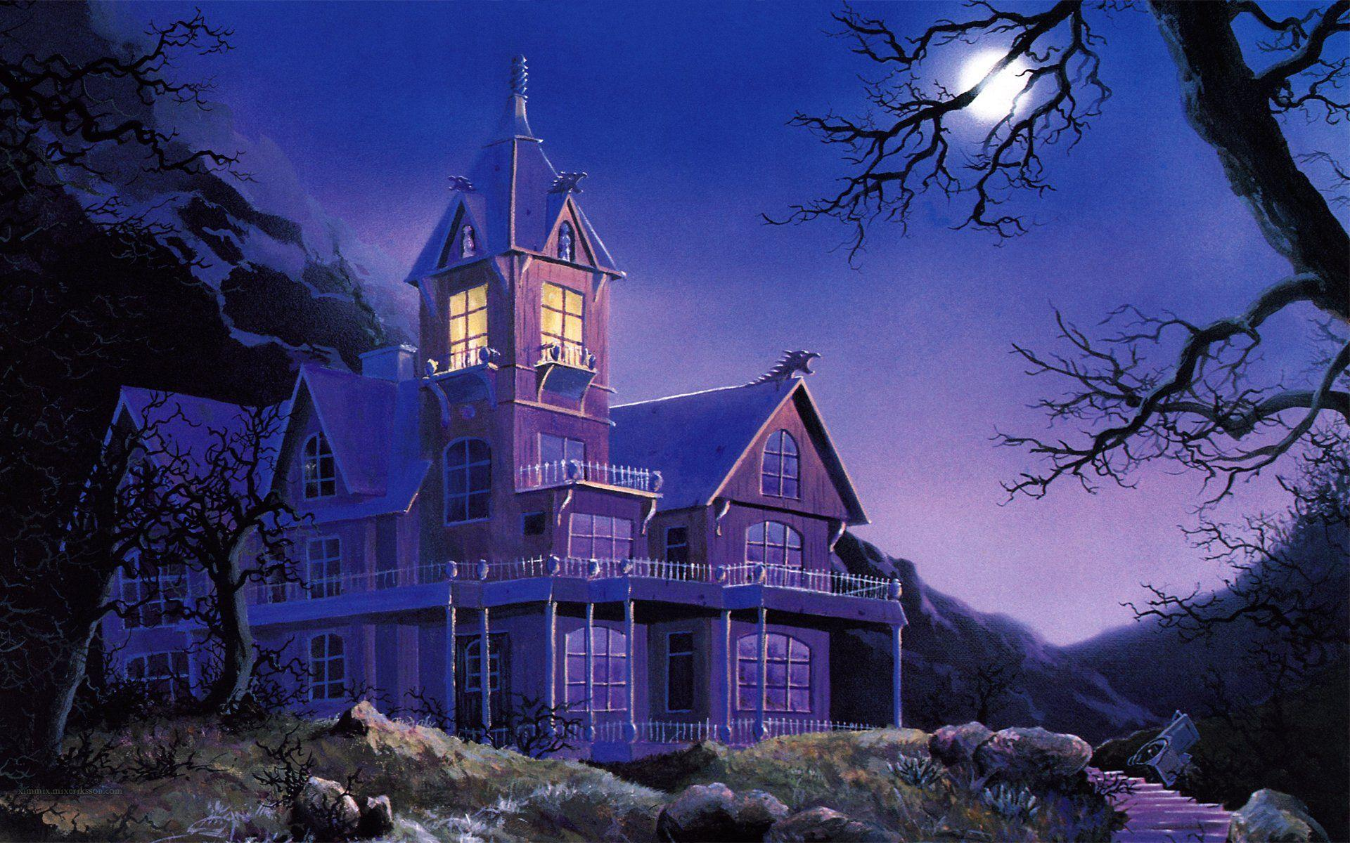 Haunted Houses Wallpapers - Wallpaper Cave