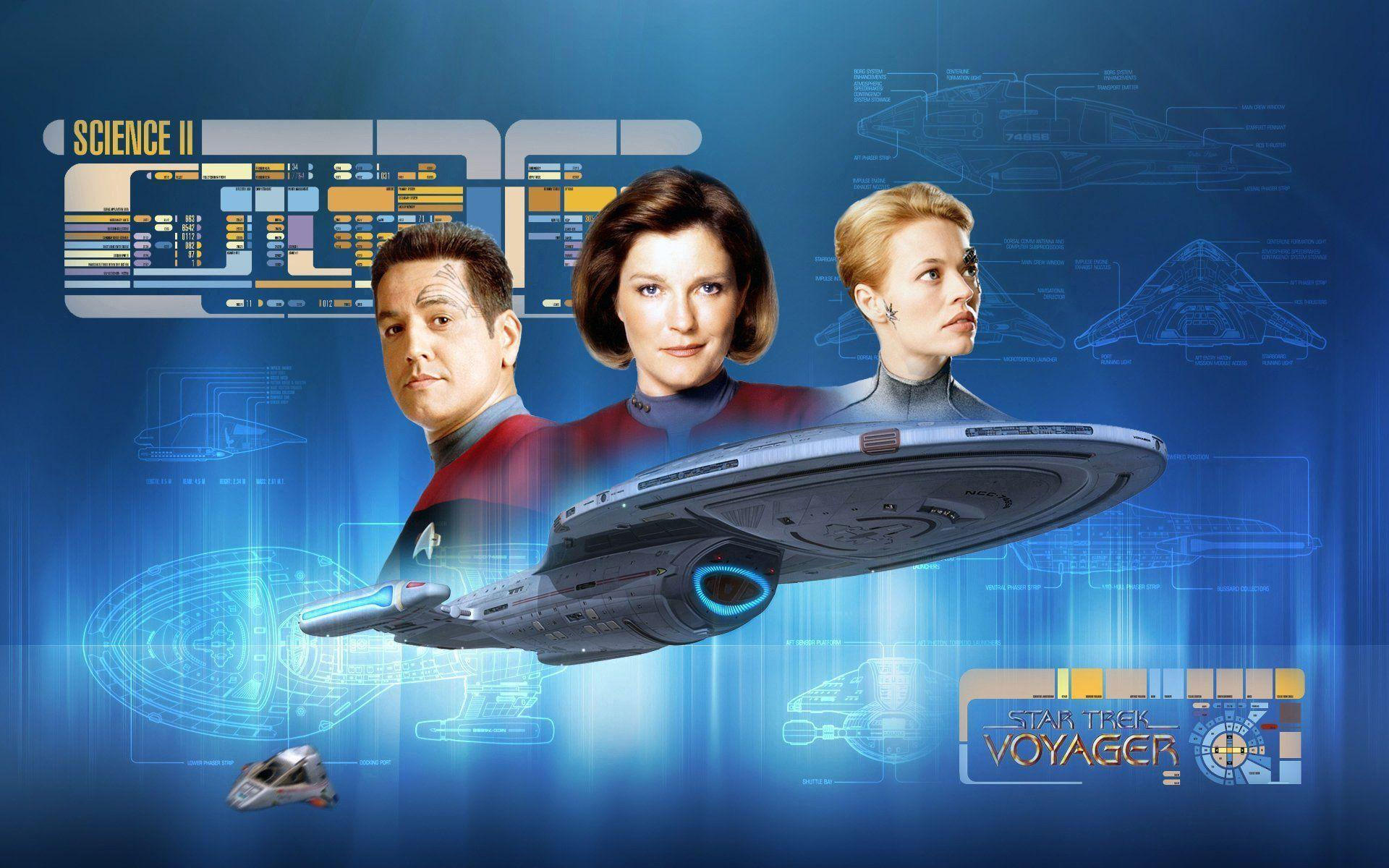 Star Trek Voyager Crew Wallpapers