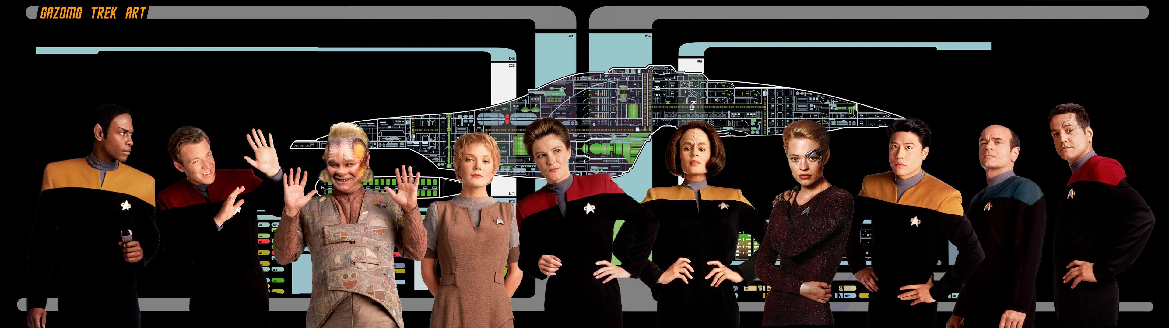 Extra Widescreen Star Trek Voyager Wallpapers by gazomg