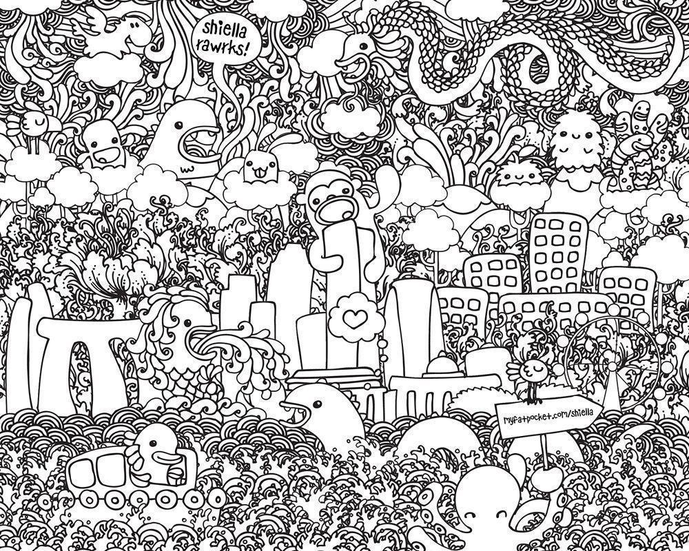 Doodle Art Alley Coloring Page