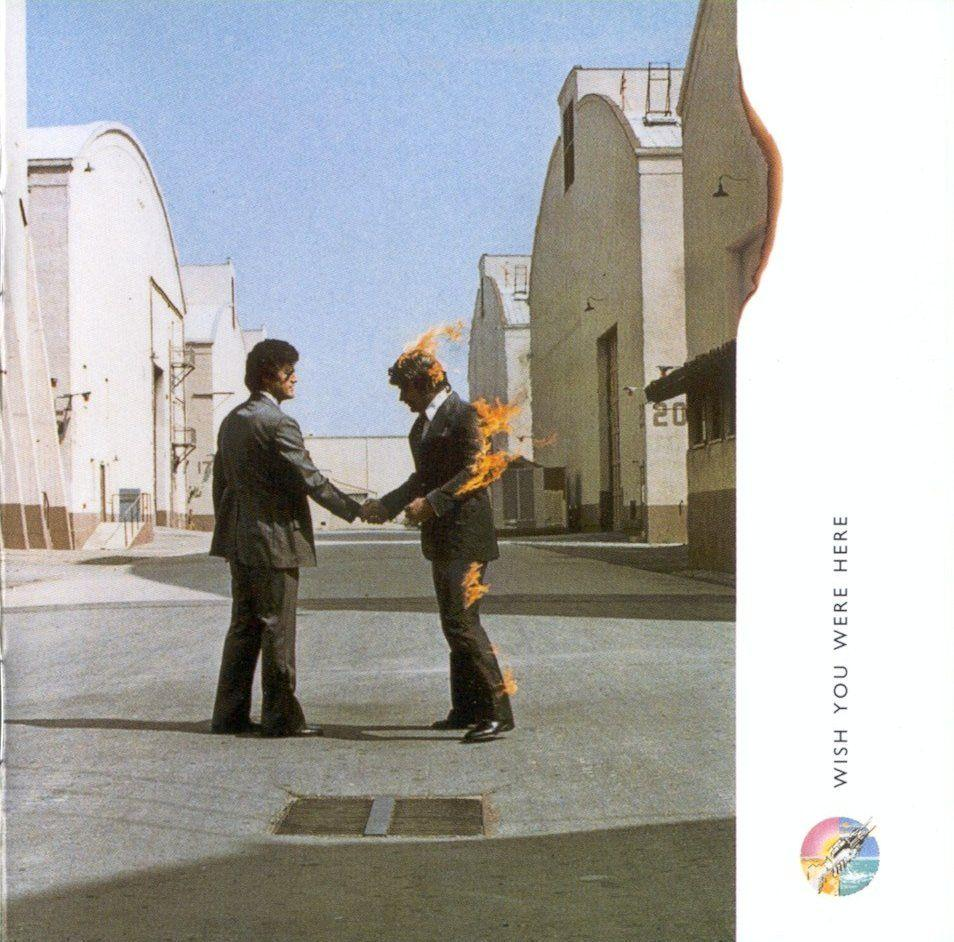 Photo Wish you were here album cover pink floyd in the album